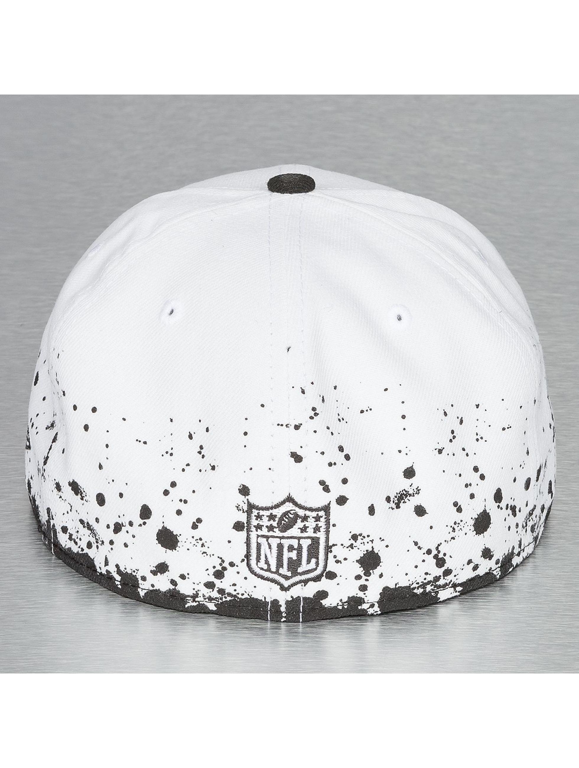 New Era Fitted Cap Panel Splatter Oakland Raiders 59Fifty weiß