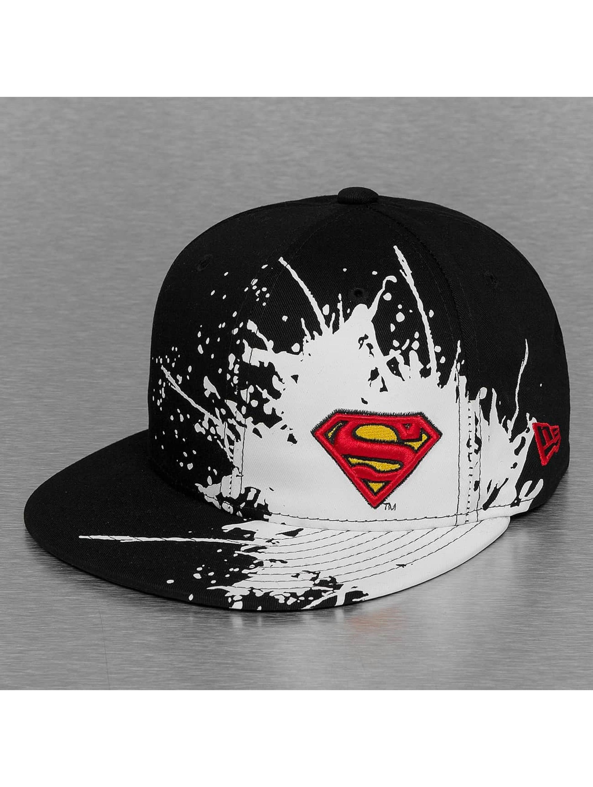 New Era Fitted Cap Splatways Superman zwart