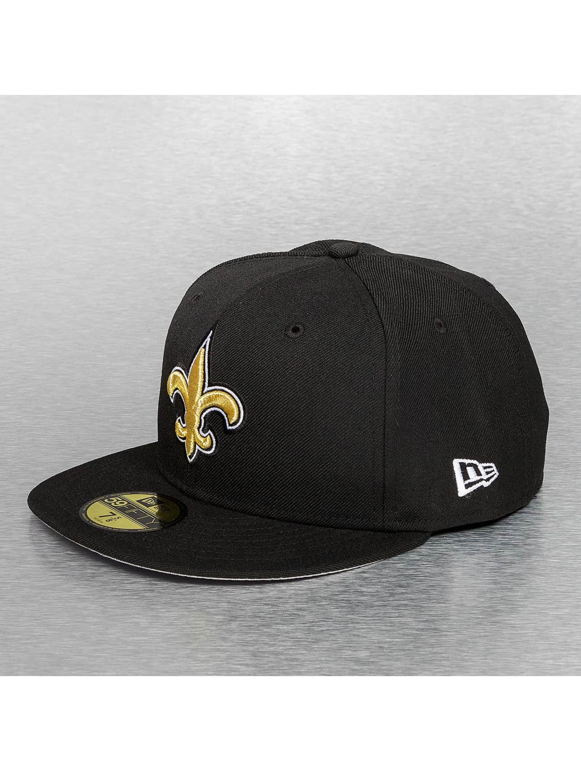 New Era Fitted Cap On Field 15 Sideline New Orleans Saints zwart