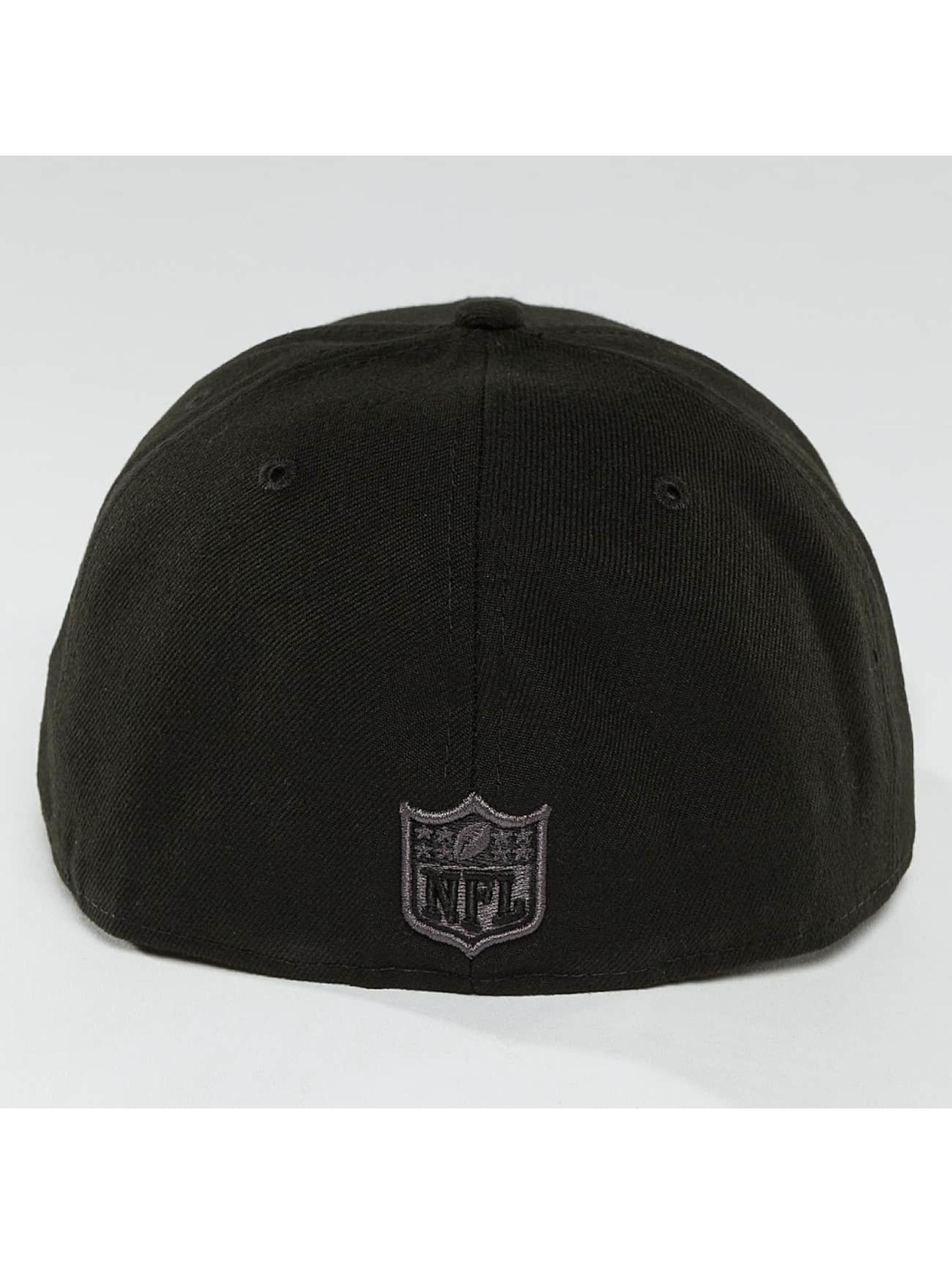 New Era Fitted Cap Black Graphite New England Patriots 59Fifty zwart