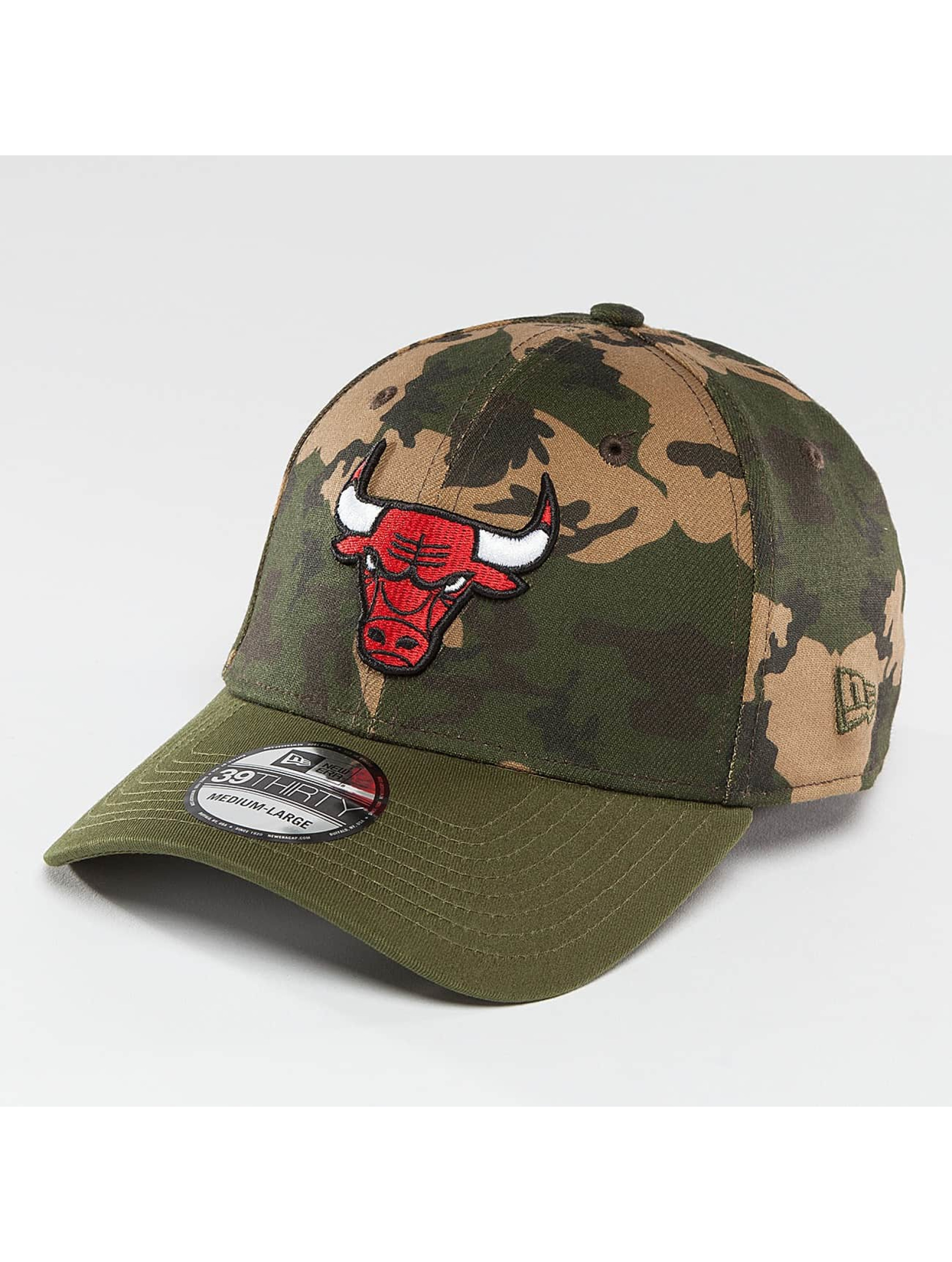 New Era Flexfitted Cap Camo Team Stretch Chicago Bulls 39Thirty maskáèová