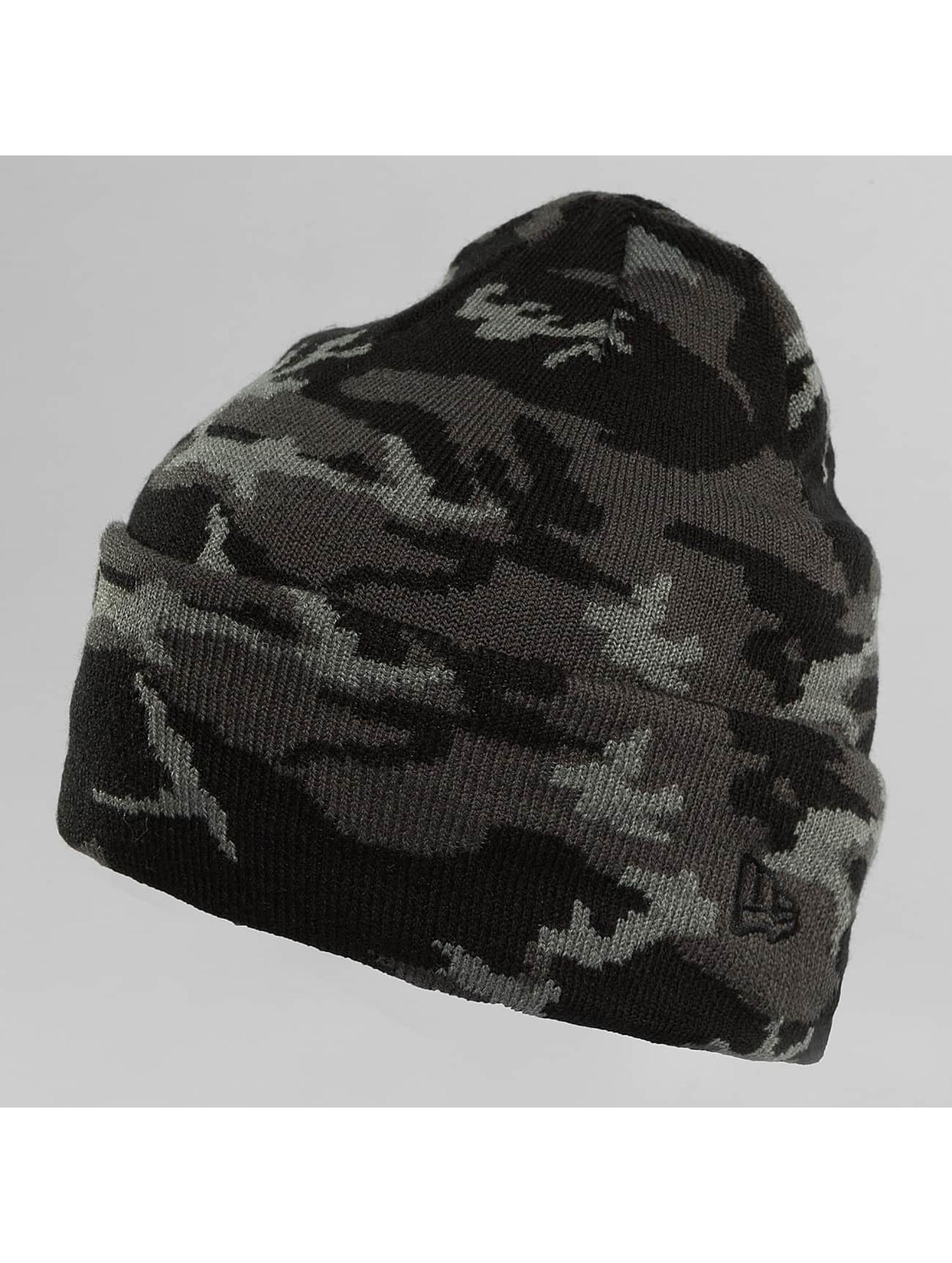 New Era Hat-1 New Era Camo Cuff Beanie black