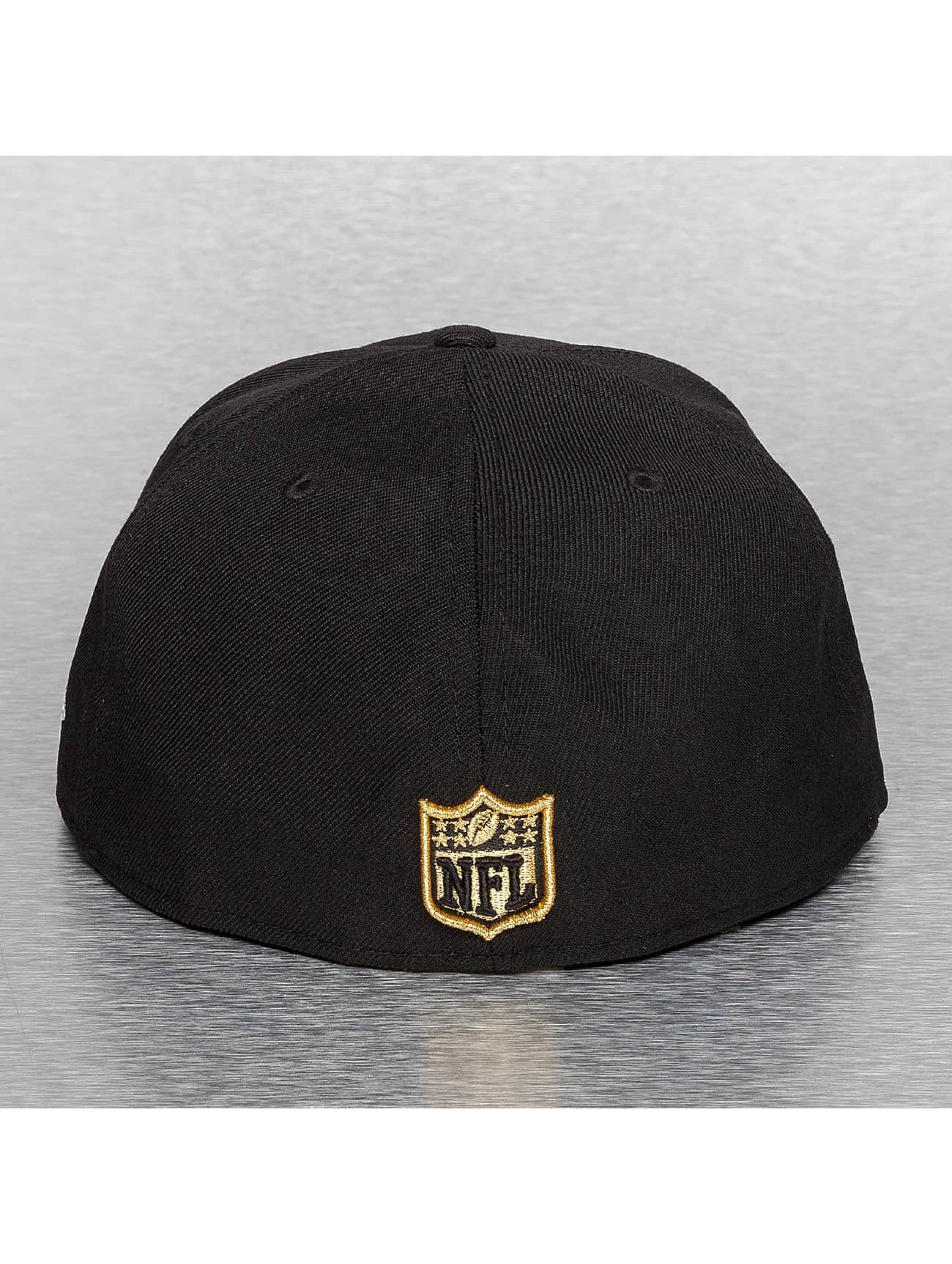 New Era Hip hop -lippikset On Field 15 Sideline New Orleans Saints musta