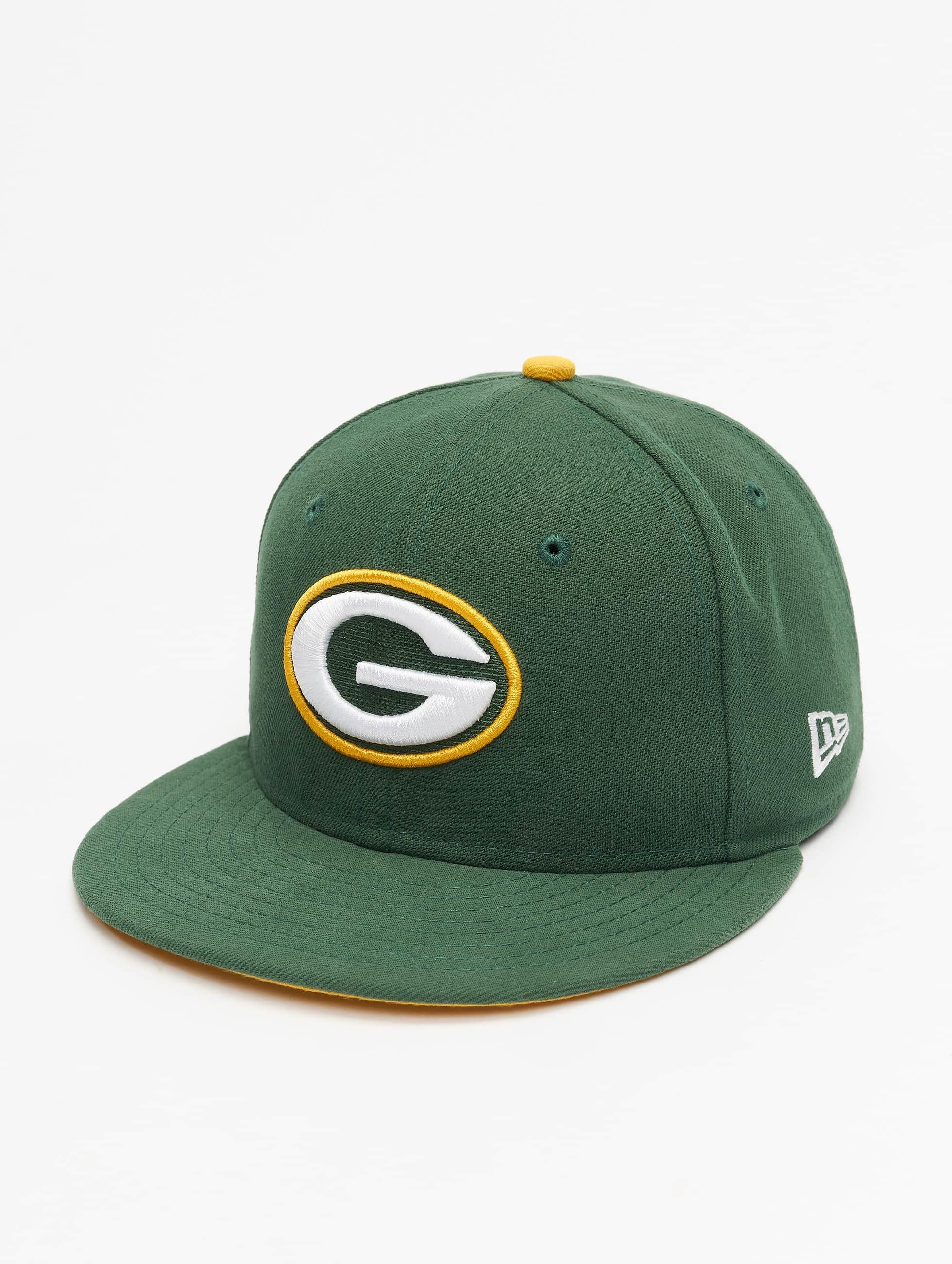 New Era Hip hop -lippikset NFL On Field Green Bay Packers 59Fifty vihreä