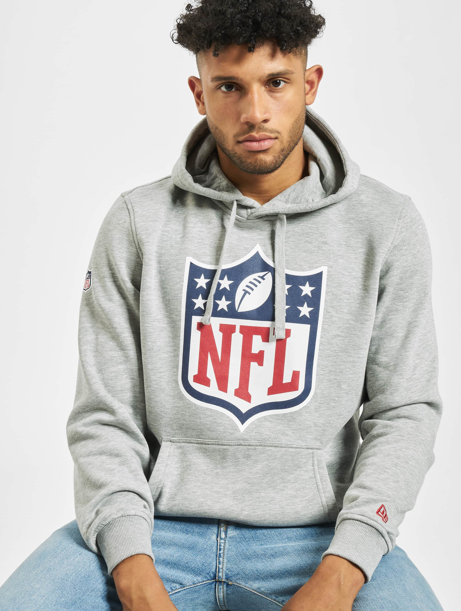 New Era Hoody NFL Team Logo grau