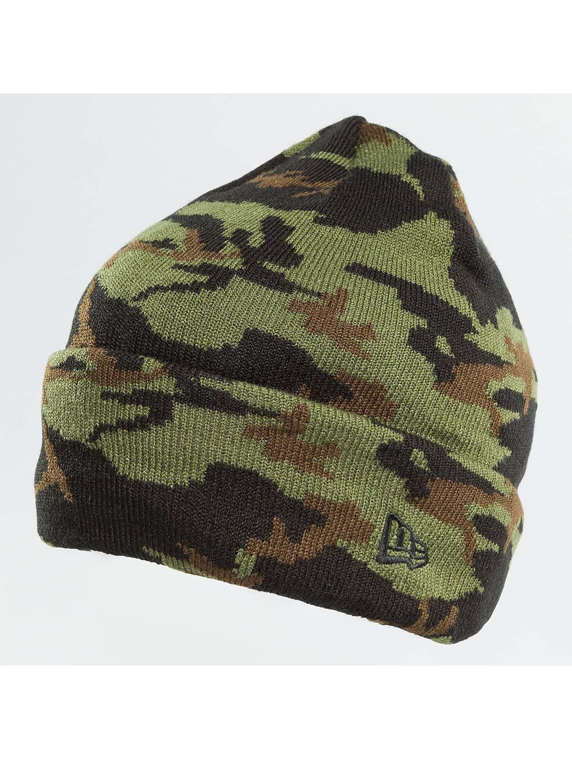 New Era Pipot New Era Camo Cuff Beanie Woodland camouflage
