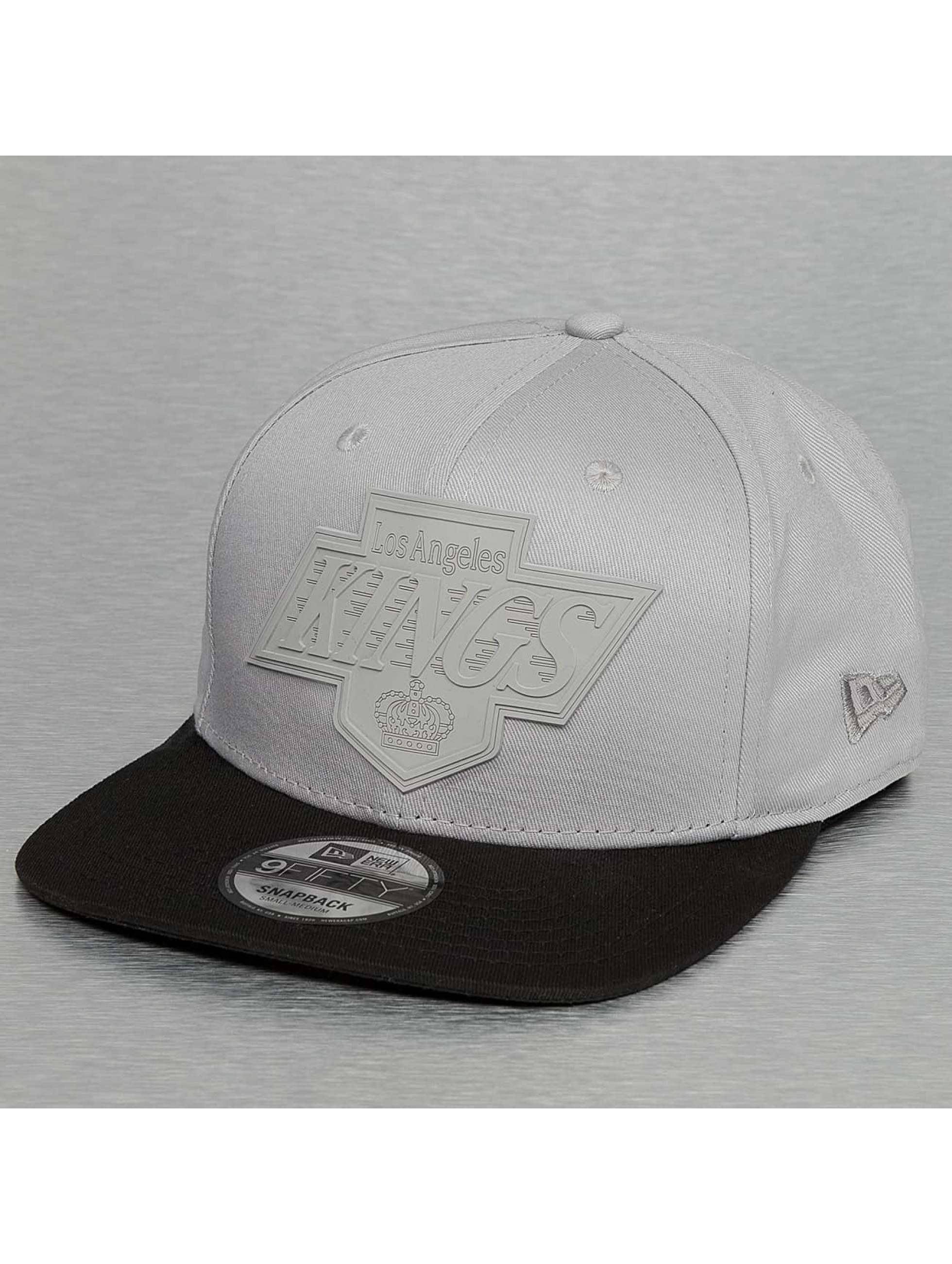 New Era Snapback Rubber Logo LA Kings 9Fifty šedá