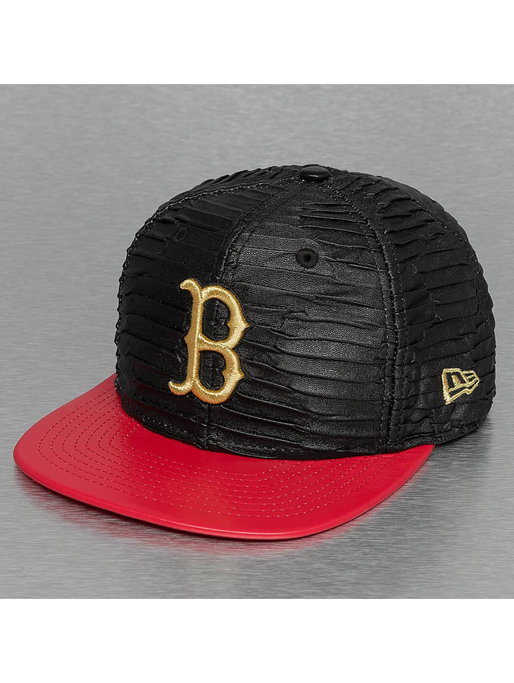 New Era Snapback Cap Leather Wave Boston Red Sox 9Fifty black