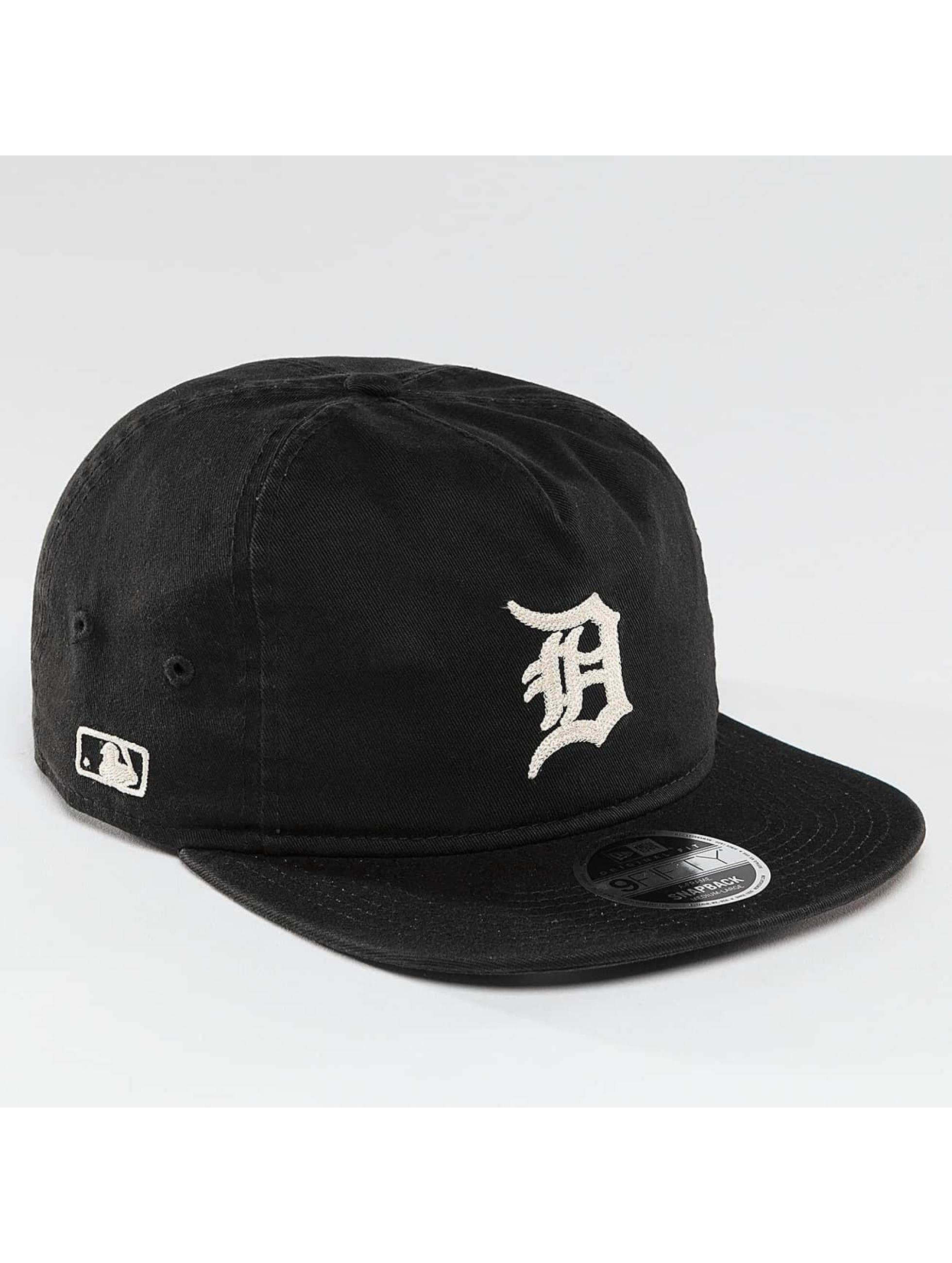 New Era Snapback Cap Chain Stitch Detroit Tigers black