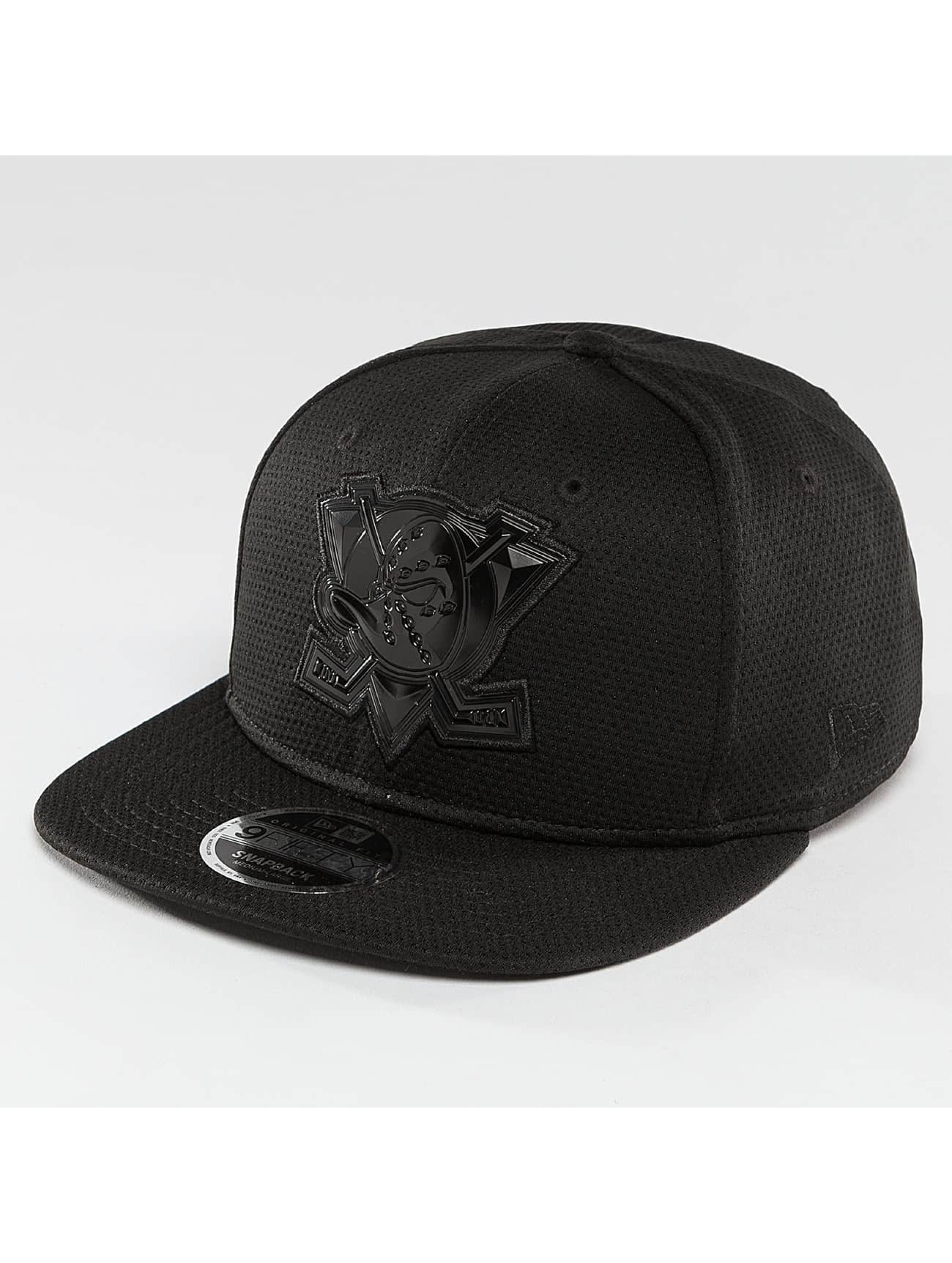 New Era Snapback Cap Tonal Logo Weld Anaheim Mighty Docks black