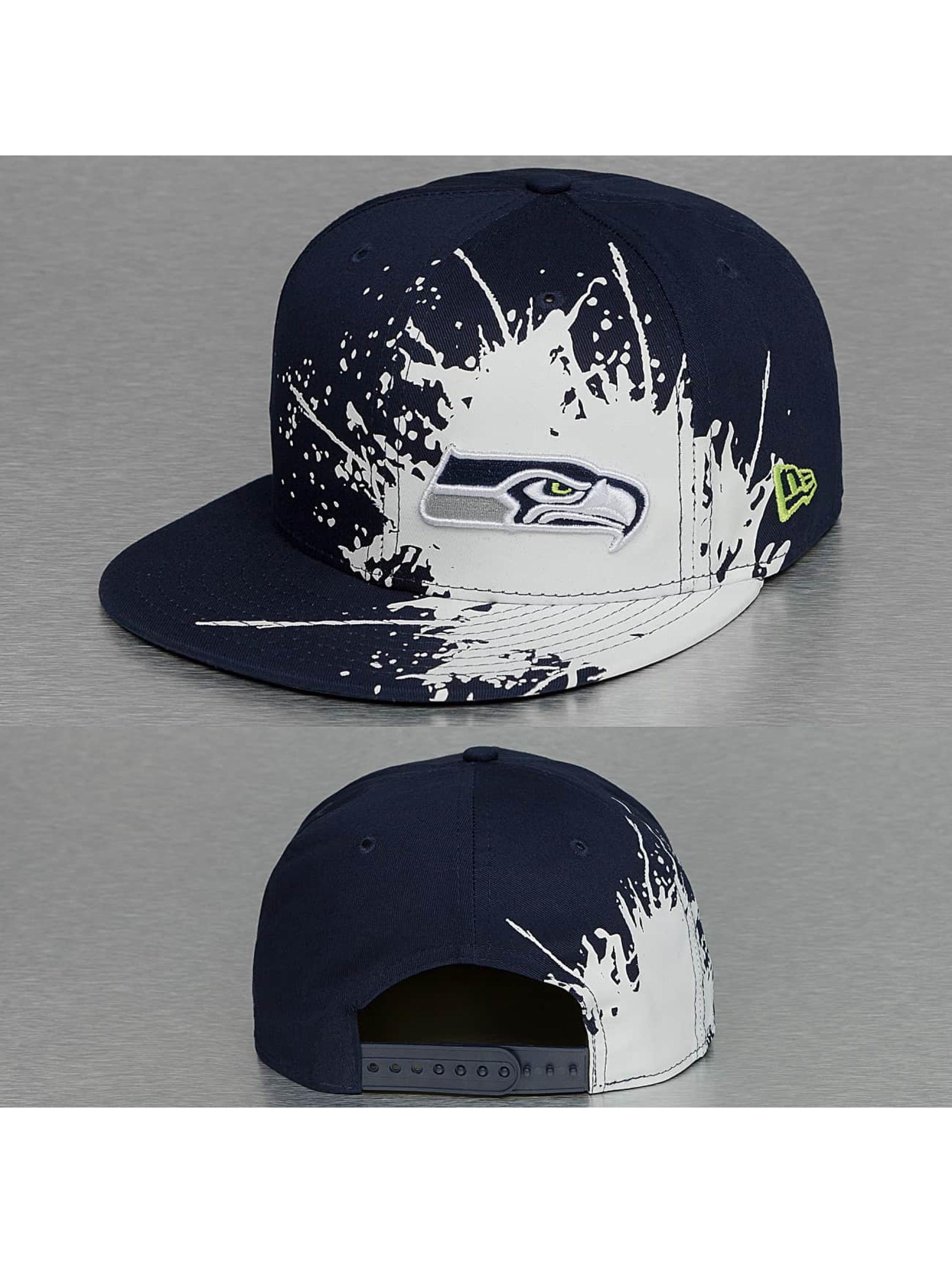 New Era Snapback Cap Splatways Seattle Seahawks 9Fifty blau