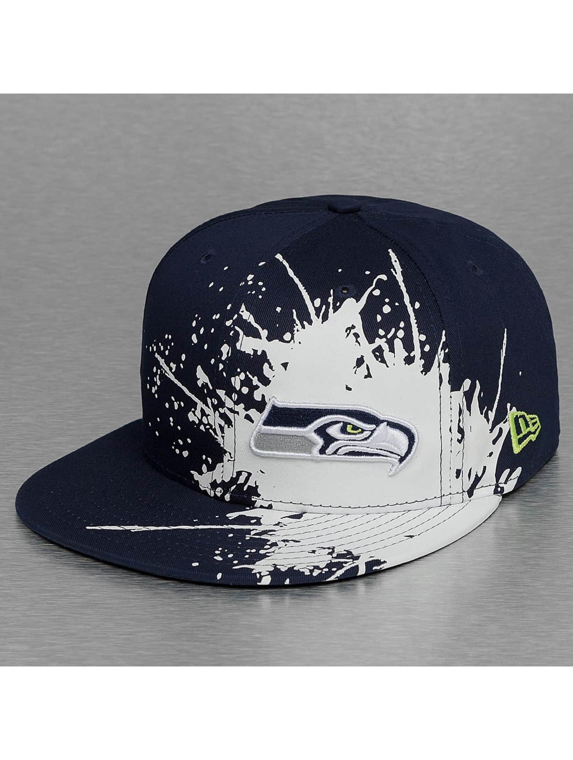 New Era Snapback Cap Splatways Seattle Seahawks 9Fifty blue