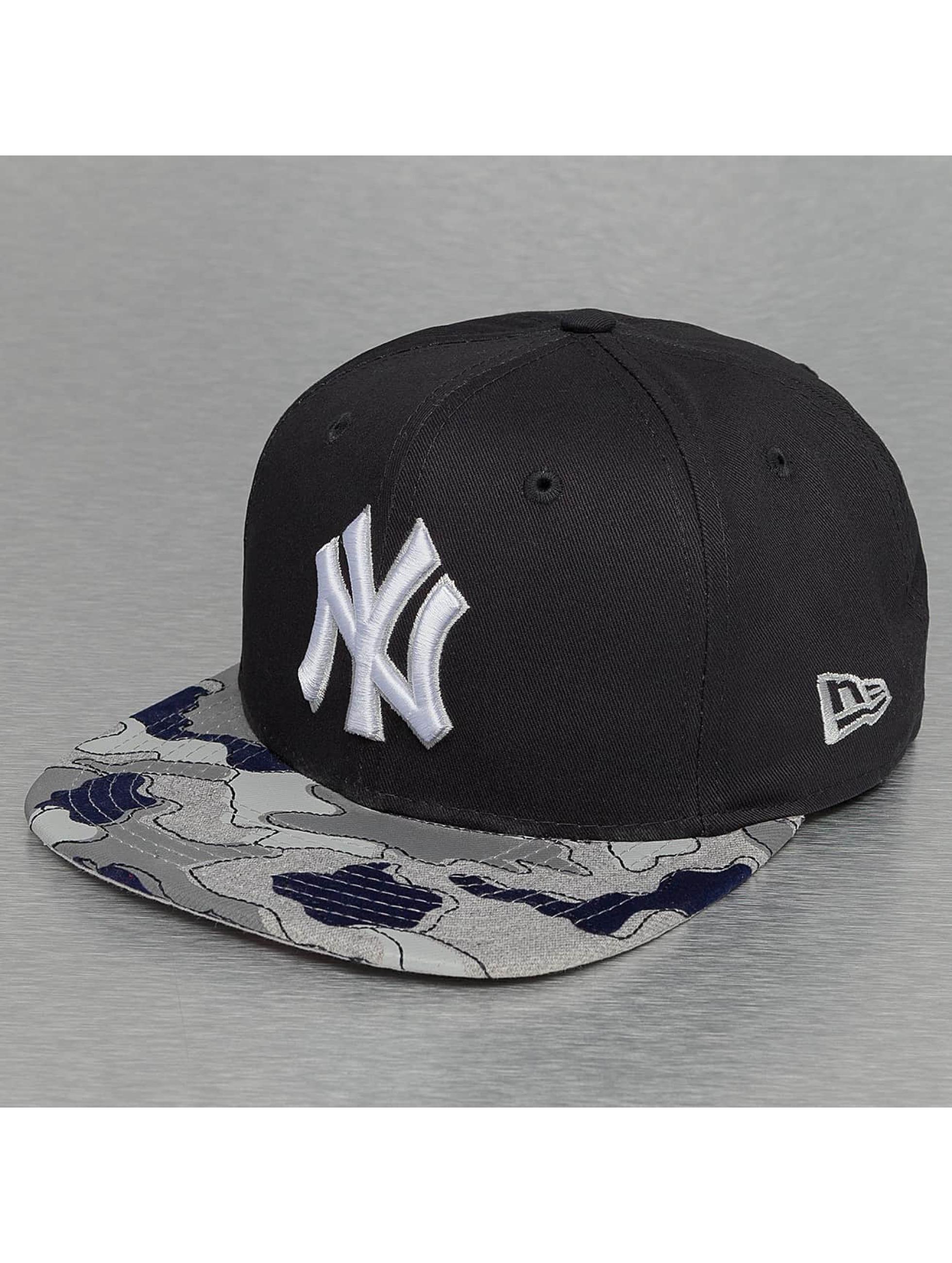 New Era Snapback Cap Camo Flock New York Yankees 59Fifty blue