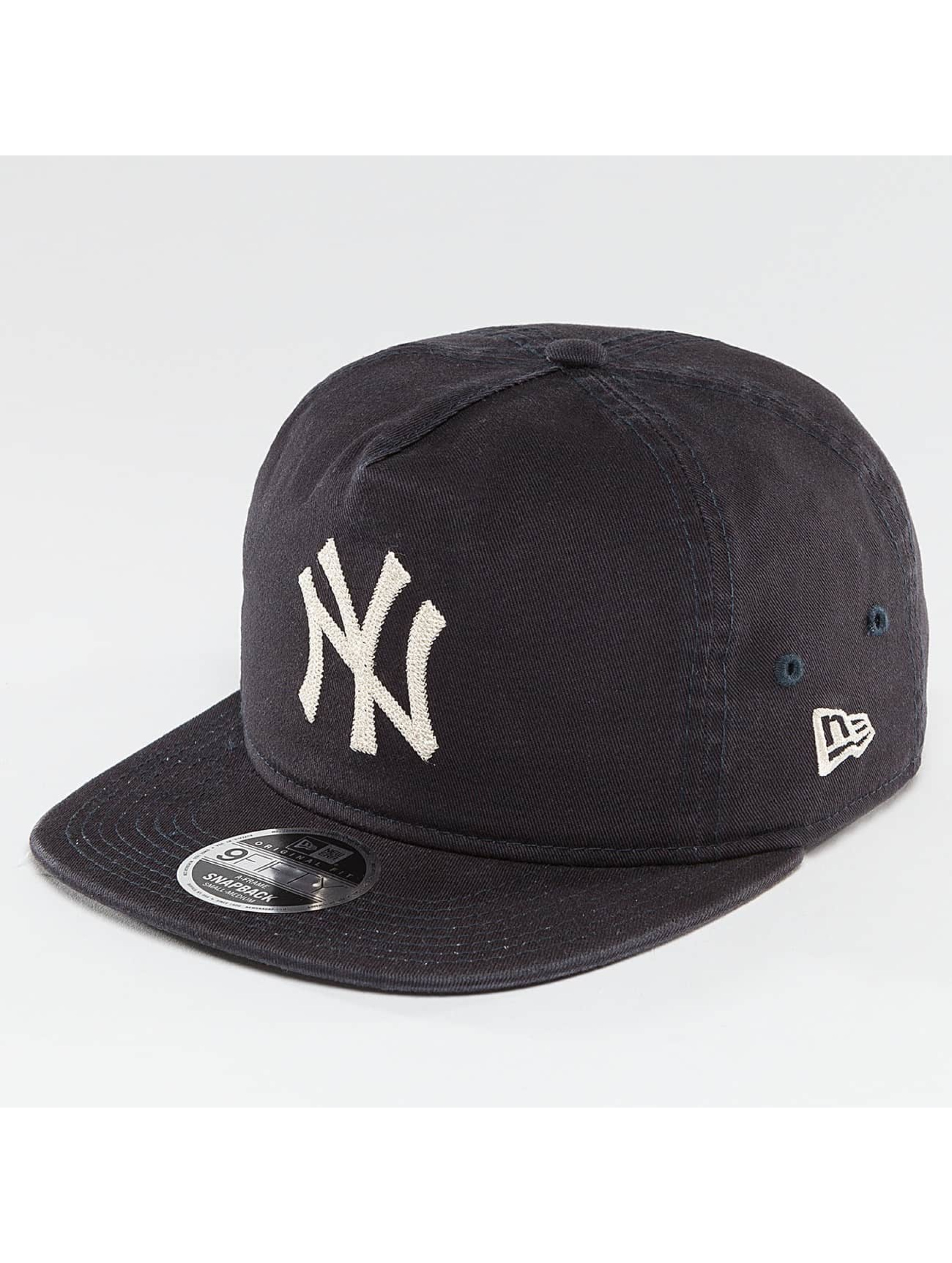 New Era Snapback Cap Chain Stitch NY Yankees blue