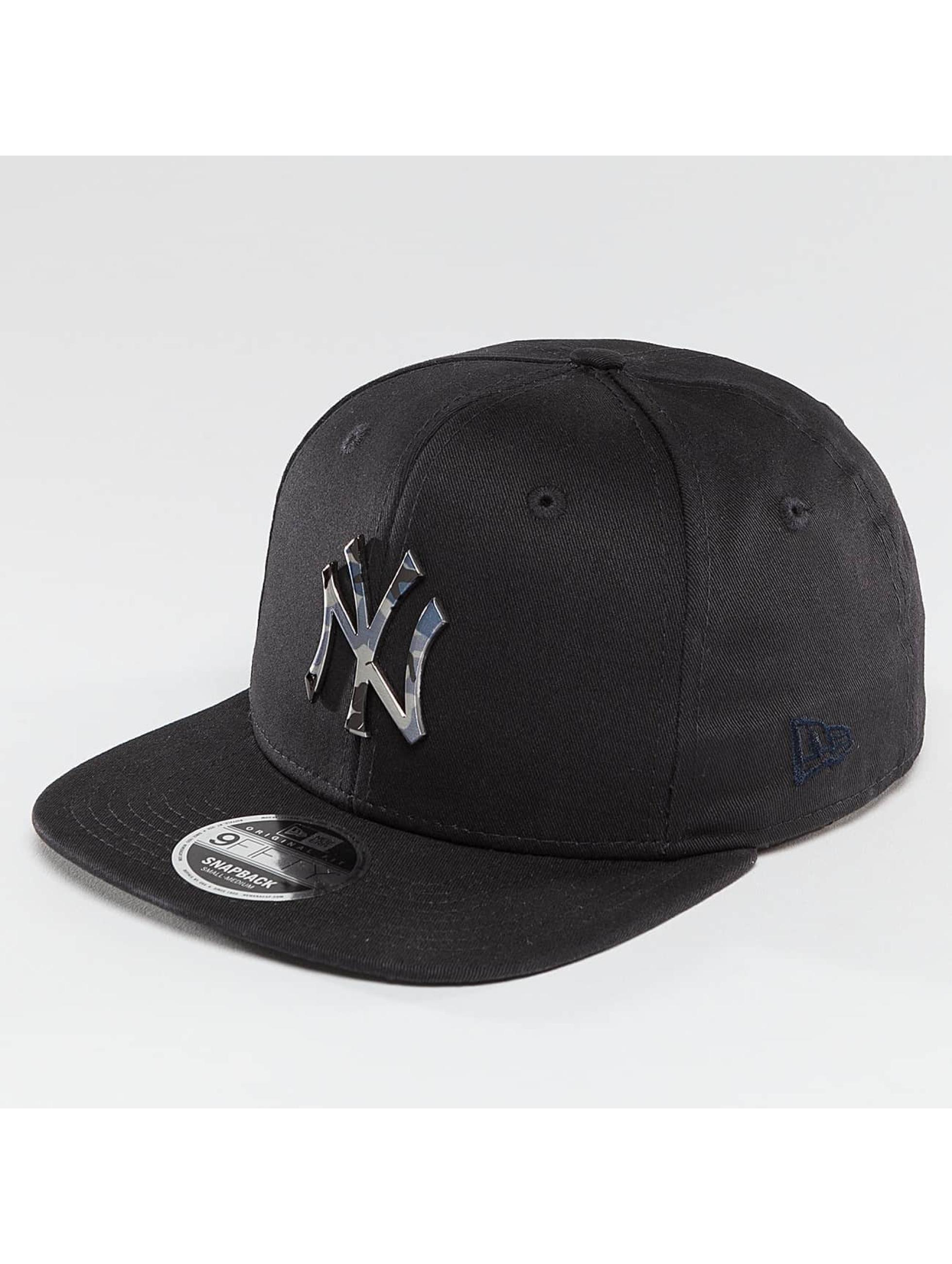 New Era Snapback Cap Camo Metal Logo NY Yankees blue