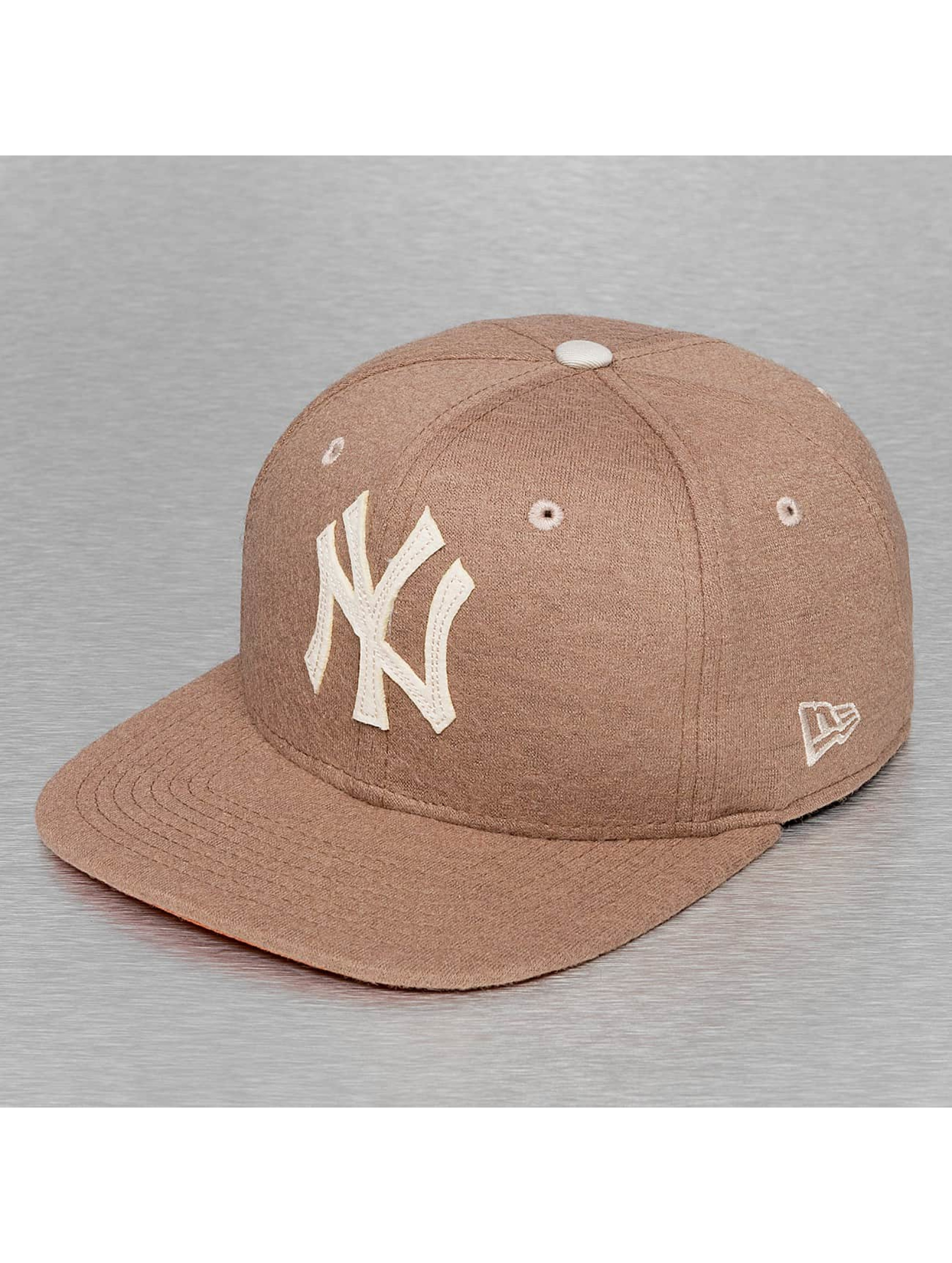 New Era Snapback Cap Felt Wool NY Yankees braun