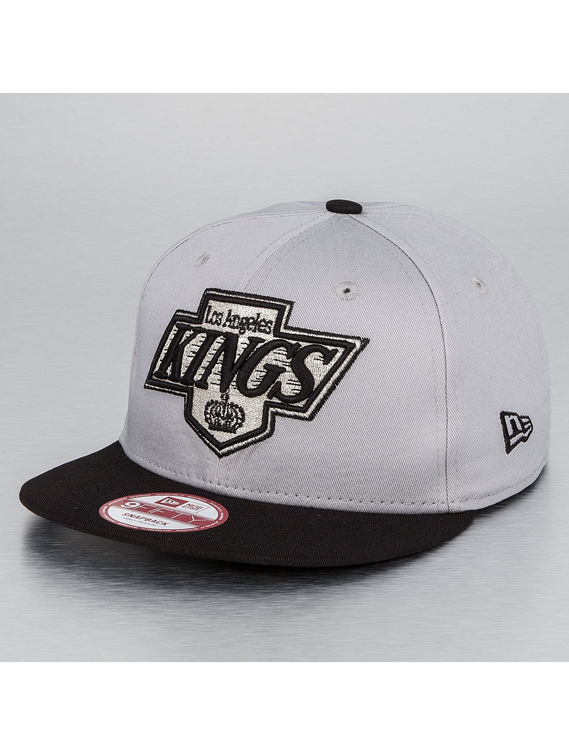 New Era Snapback Cap NHL Cotton Block LA Kings grau