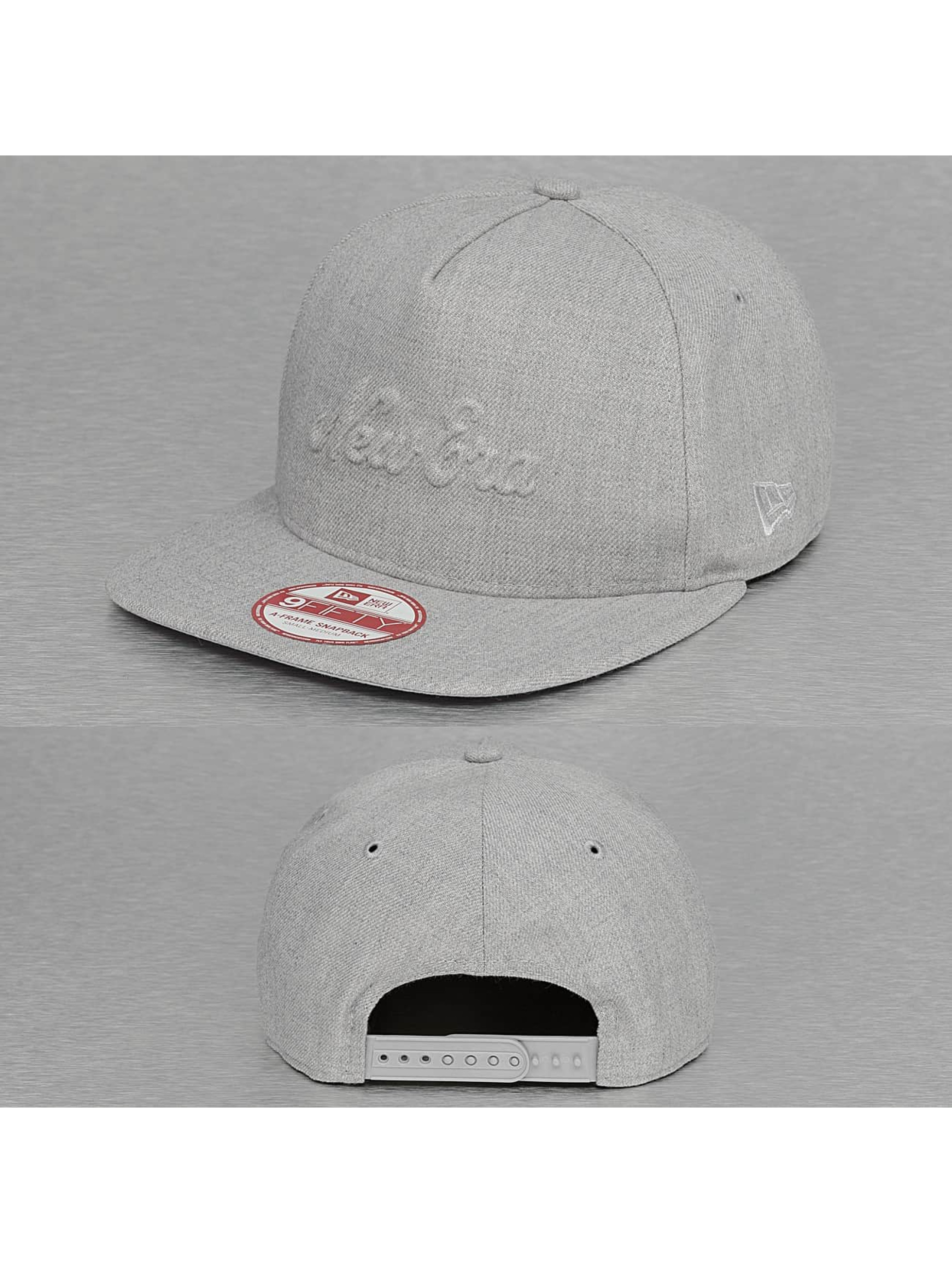 New Era Snapback Cap Heather Gel Fill grau