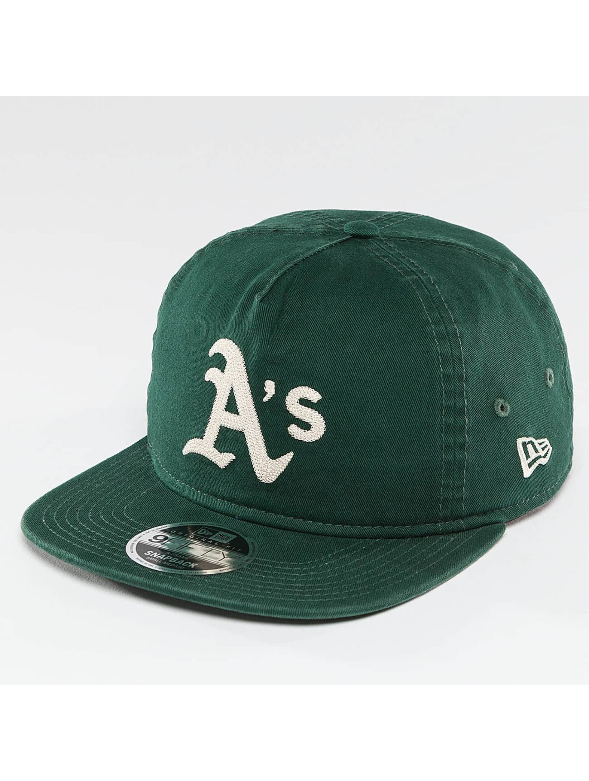 New Era Snapback Cap Chain Stitch Oakland Athletics green