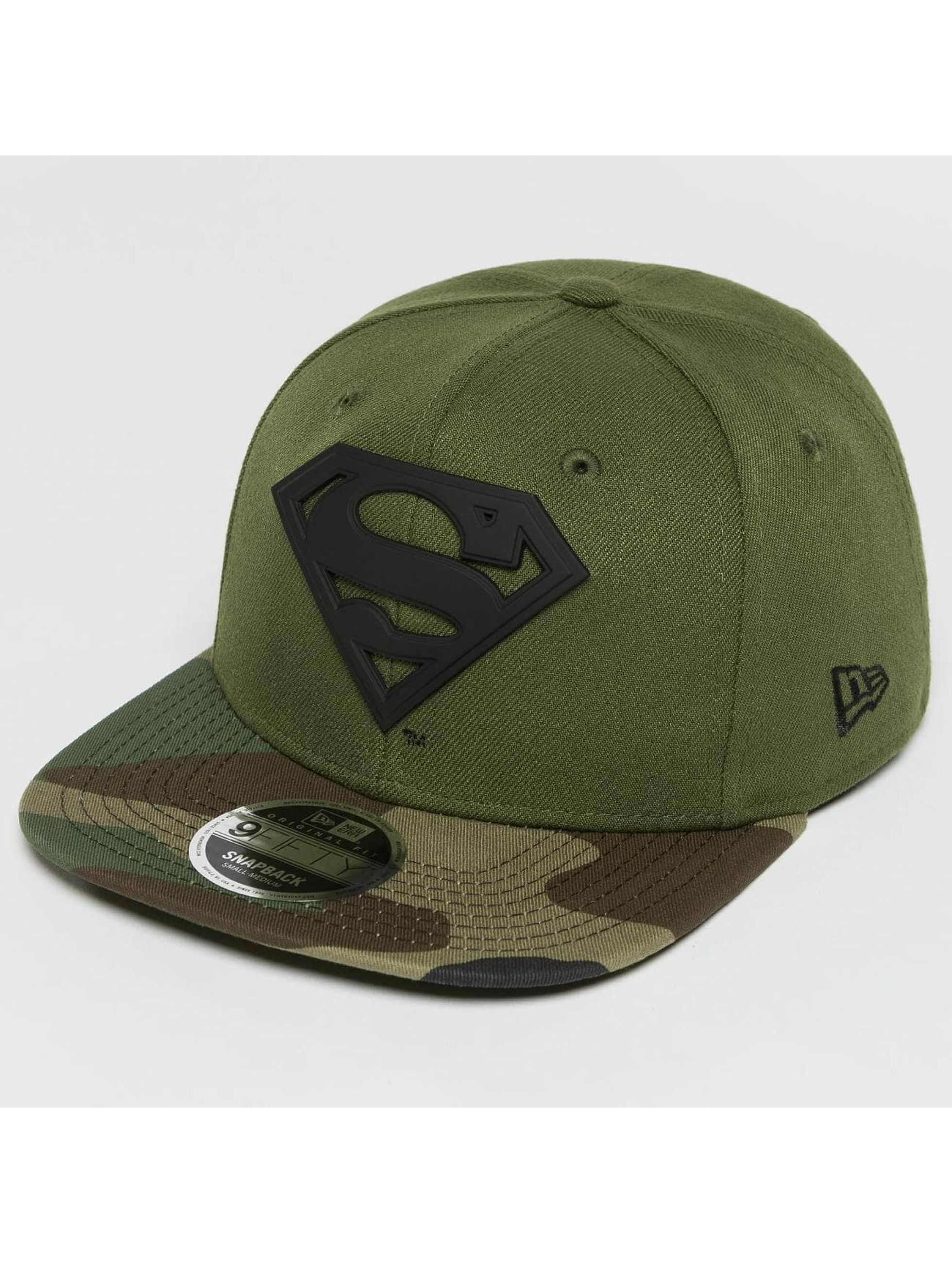 New Era Snapback Cap Camo MTL Hero Superman 9Fifty grün