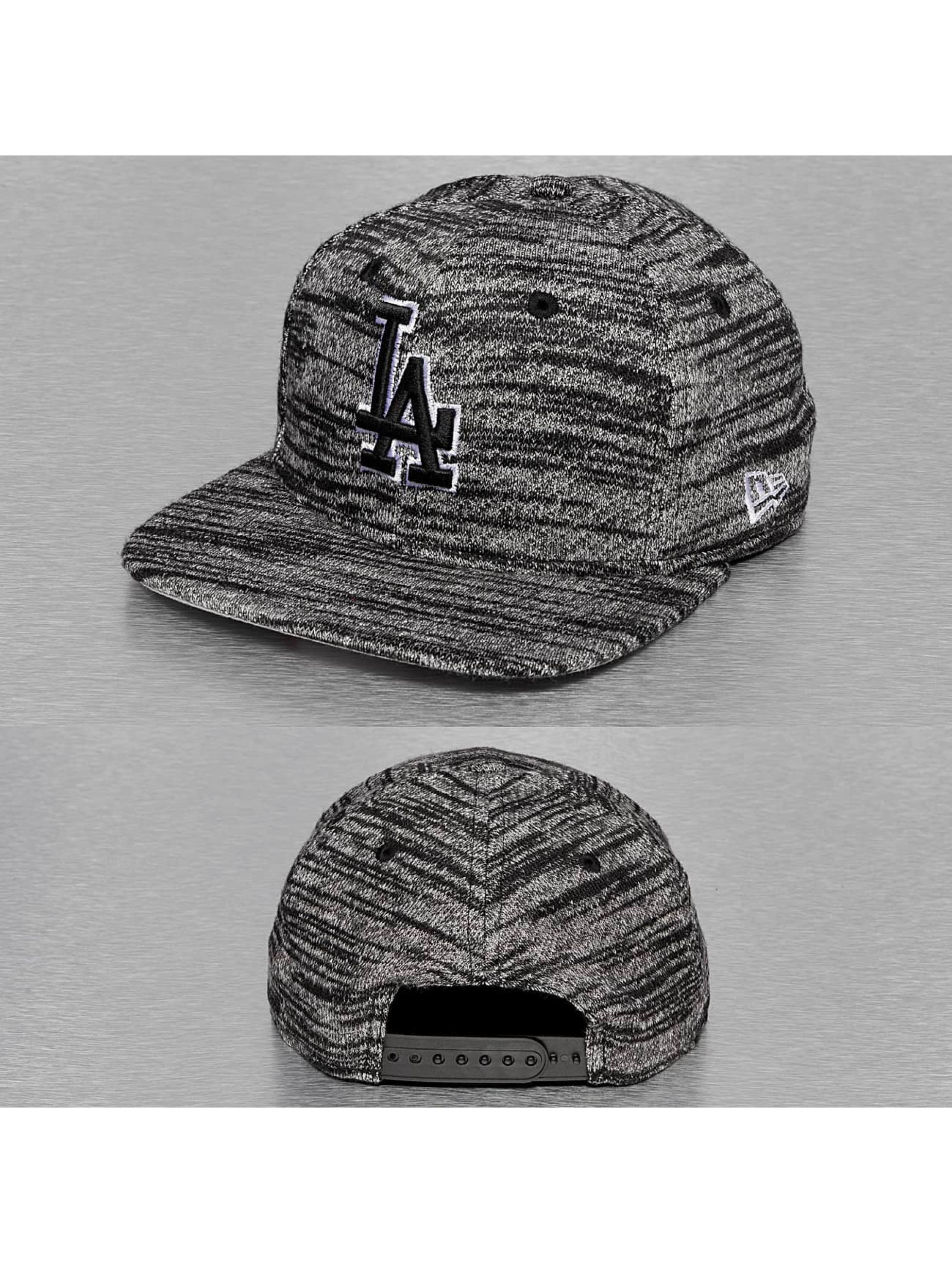 New Era Snapback Cap Jersey Fleck LA Dodgers schwarz