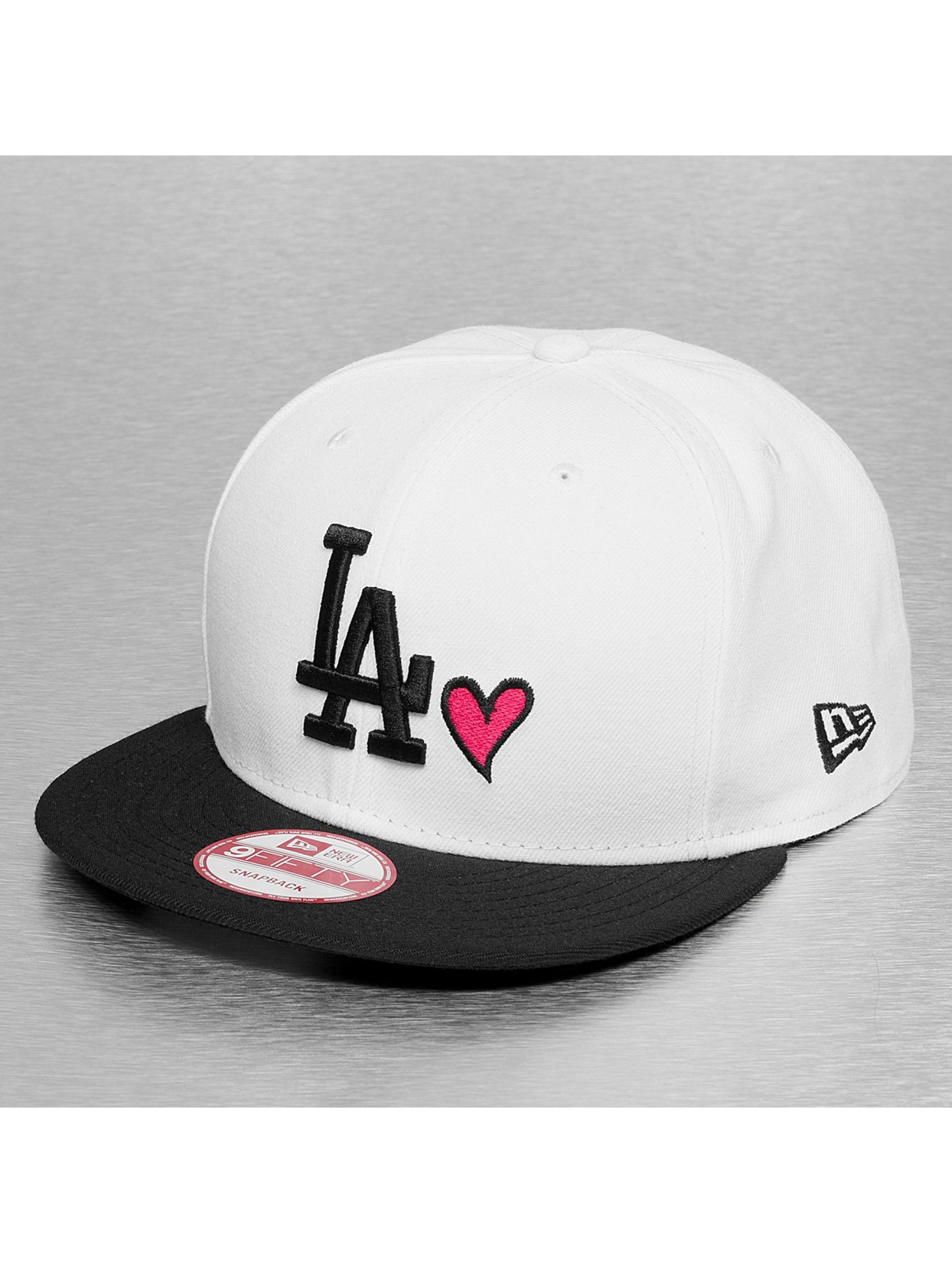 New Era Snapback Cap With Hearts LA Dodgers weiß