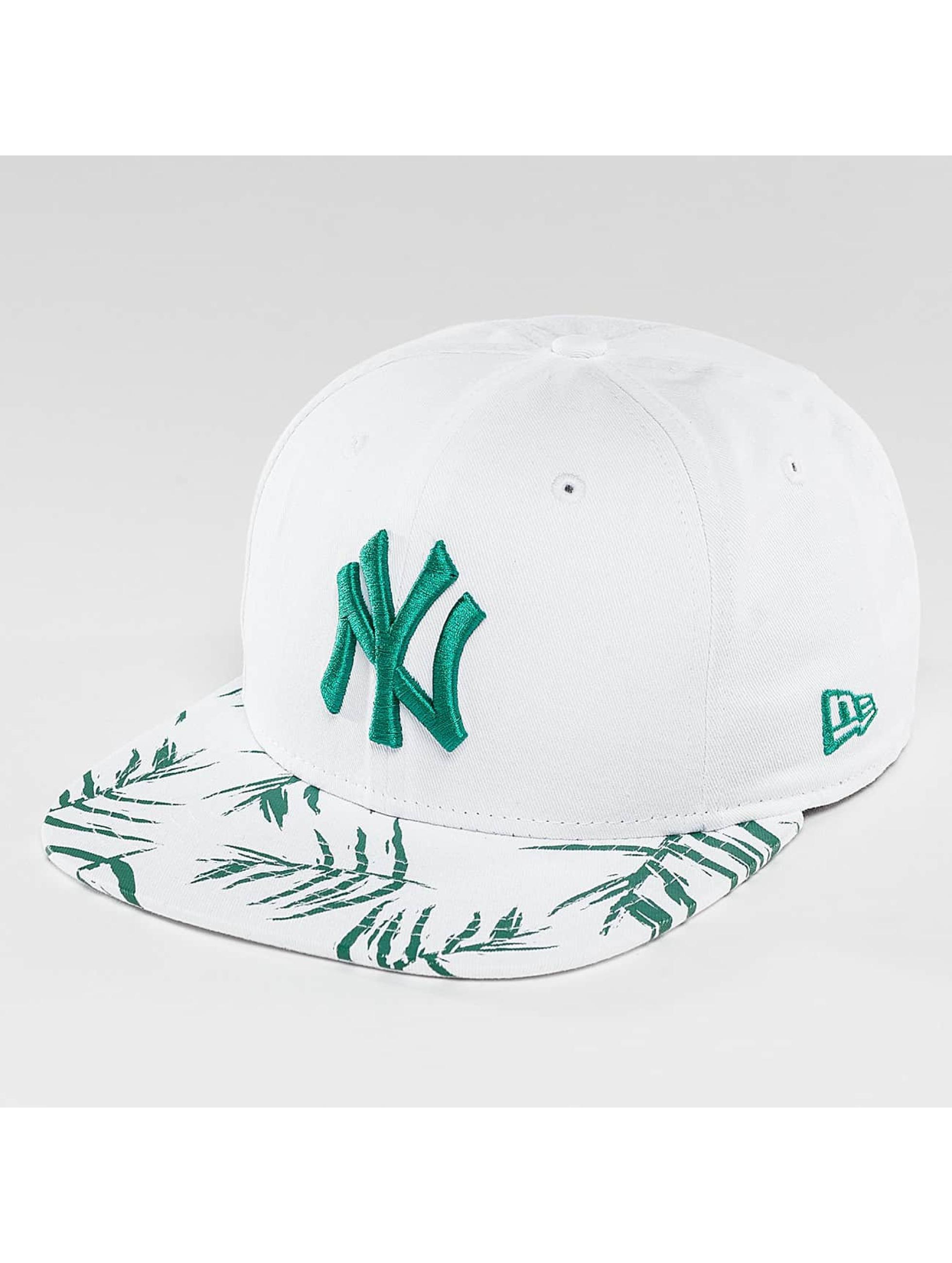 New Era Snapback Cap Sandwash Visor Print NY Yankees white