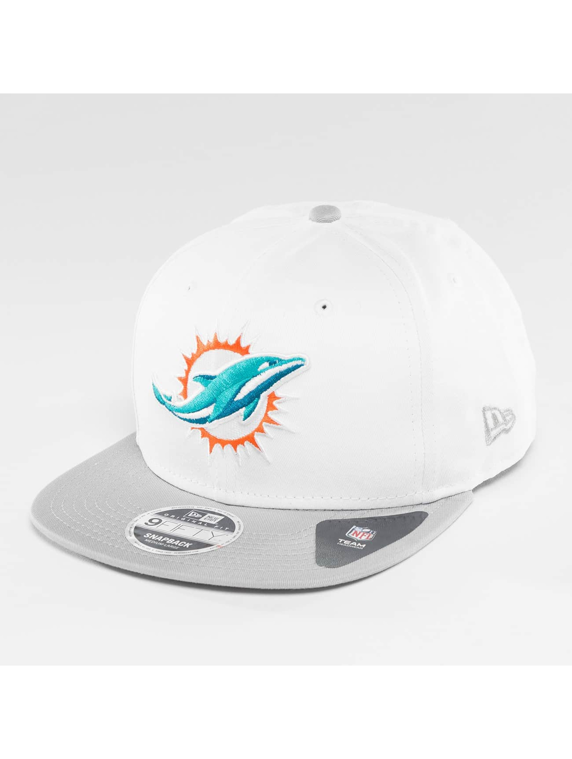 New Era Snapback Cap Contrast Crown Miami Dolphins white