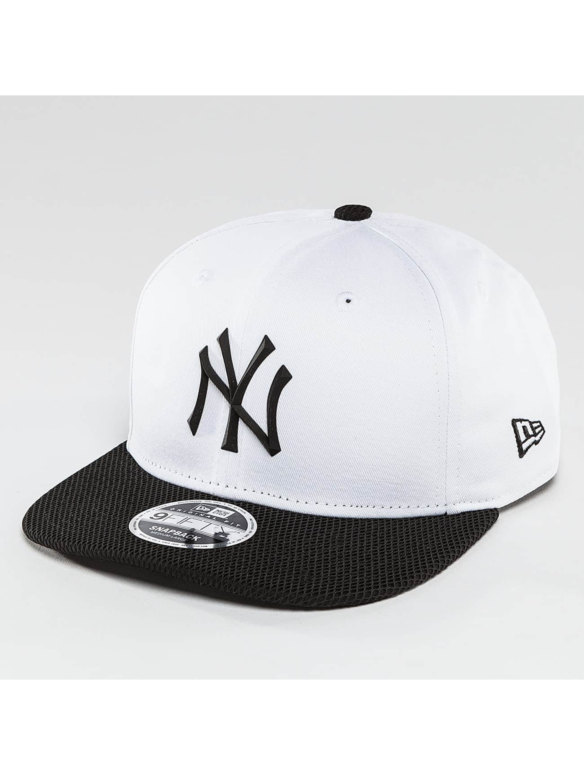 New Era Snapback Cap Rubber Prime NY Yankees white