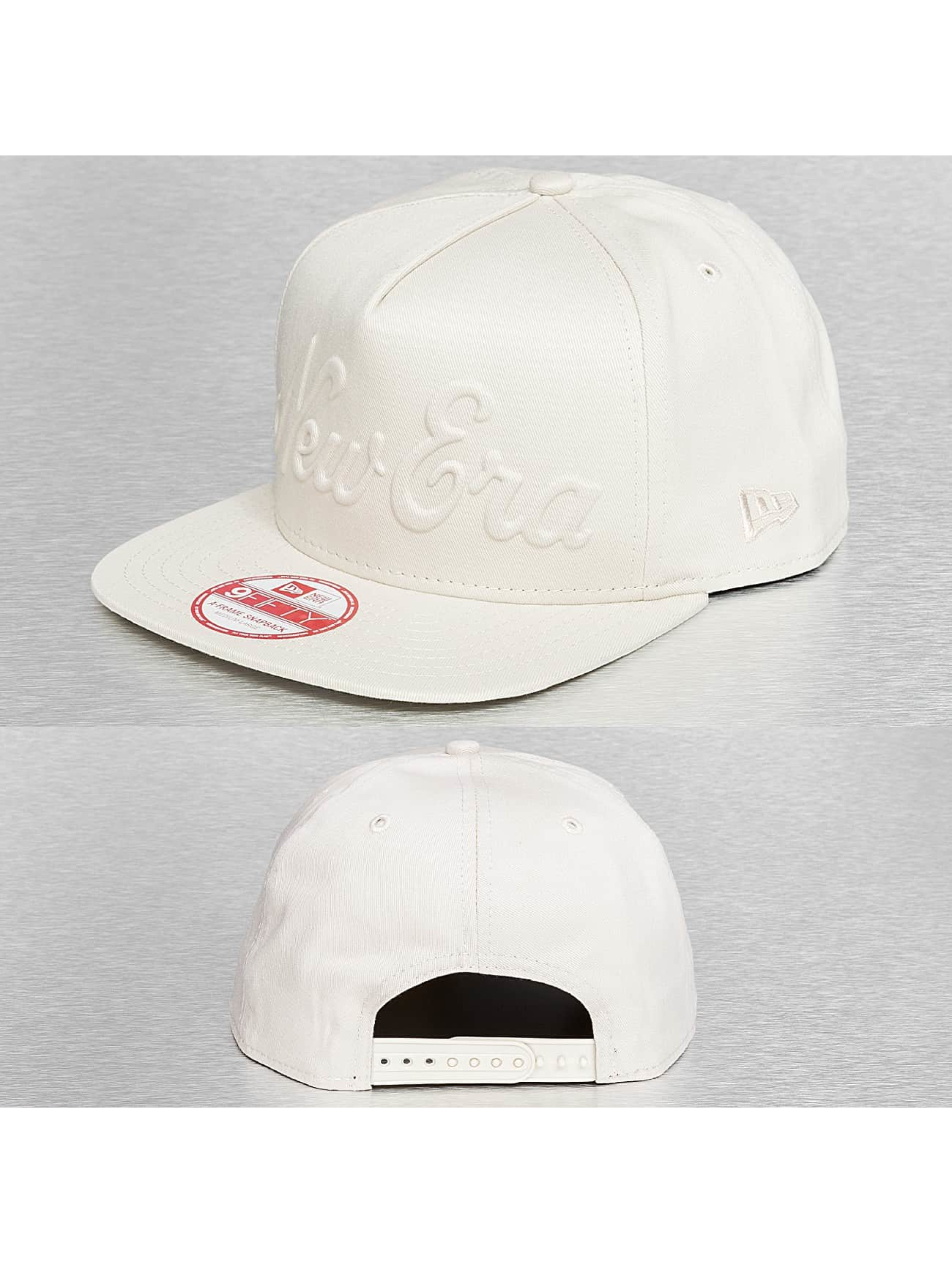 New Era Snapback Caps Gel Script New Era beige