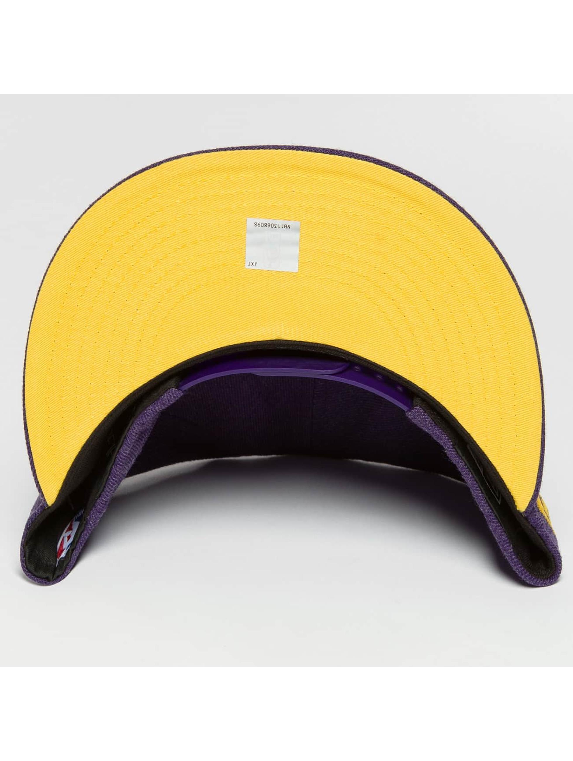 New Era Snapback Caps Team Heather LA Lakers fioletowy