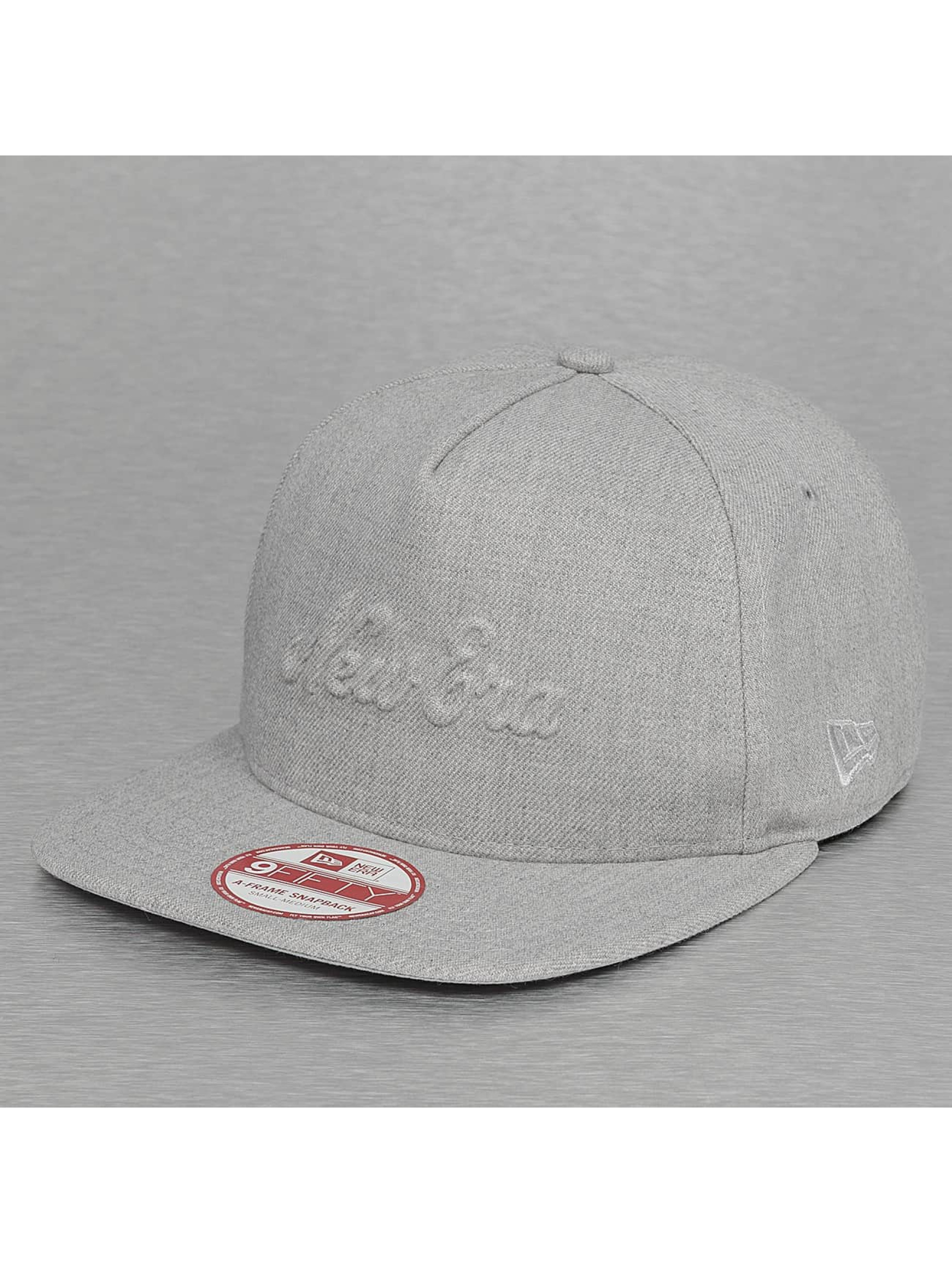 New Era Snapback Caps Heather Gel Fill grå