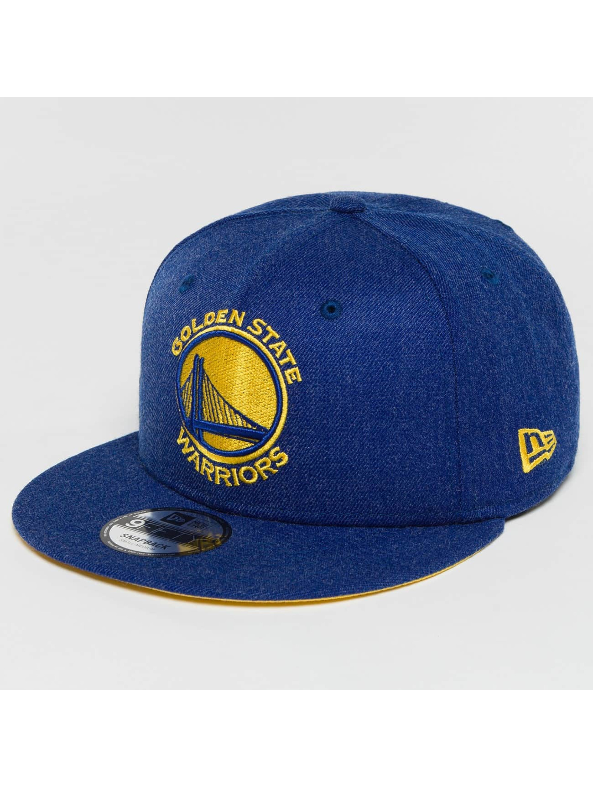 New Era Snapback Caps Team Heather Golden State Warriors niebieski