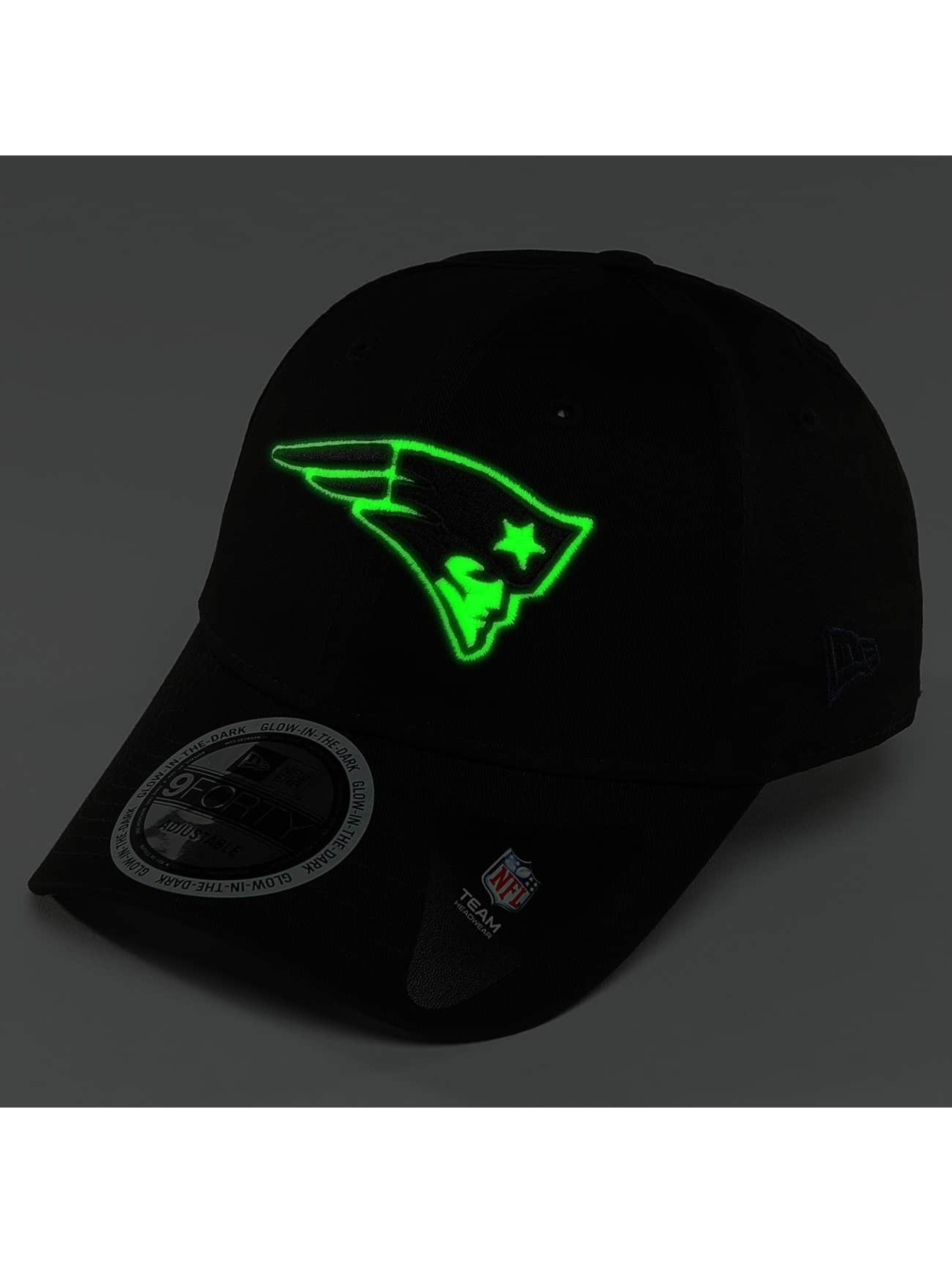 New Era Snapback Caps Team GITD Basic New England Patriots 9Forty svart