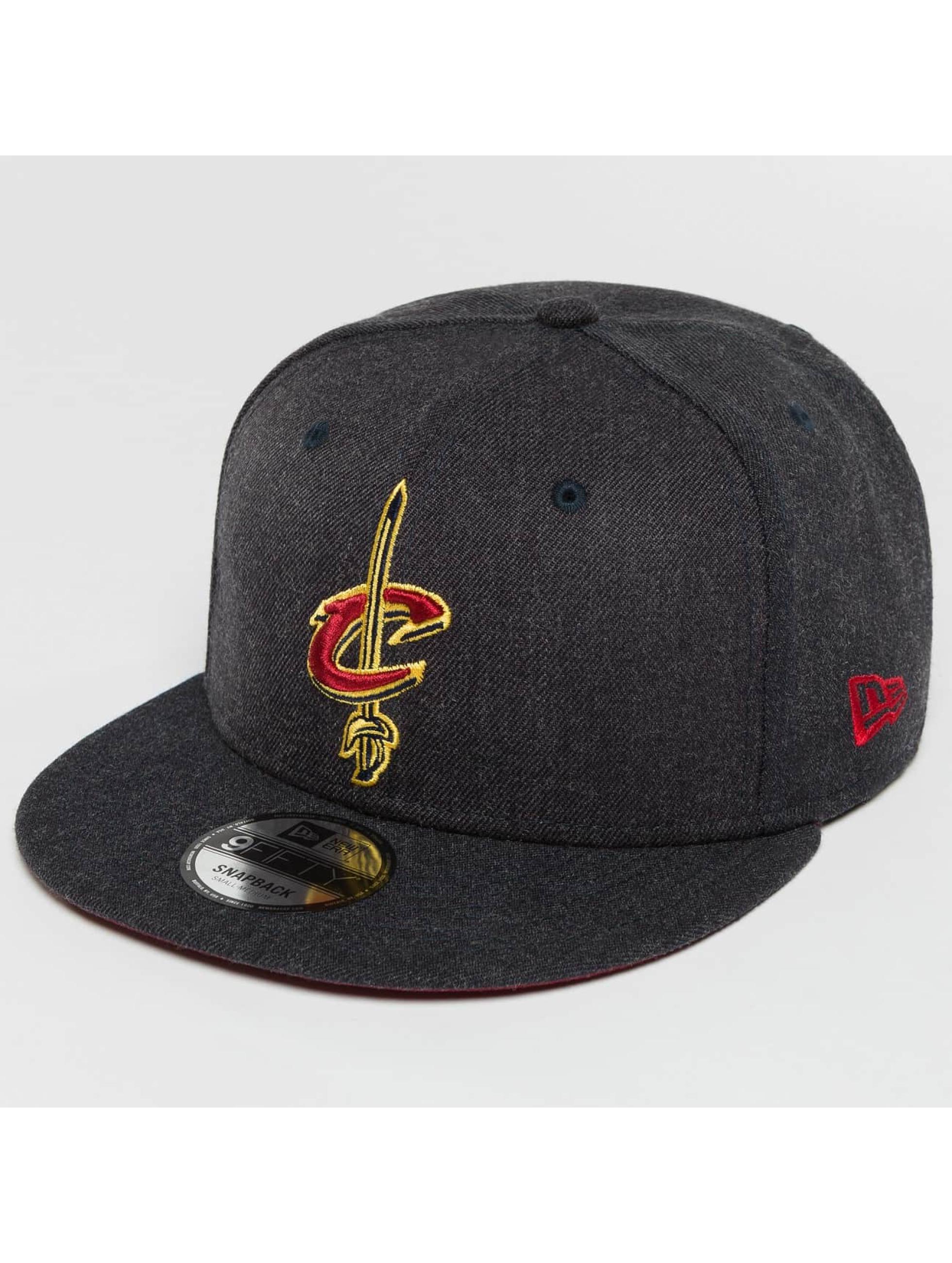 New Era Snapback Caps Team Heather Cleveland Cavaliers szary
