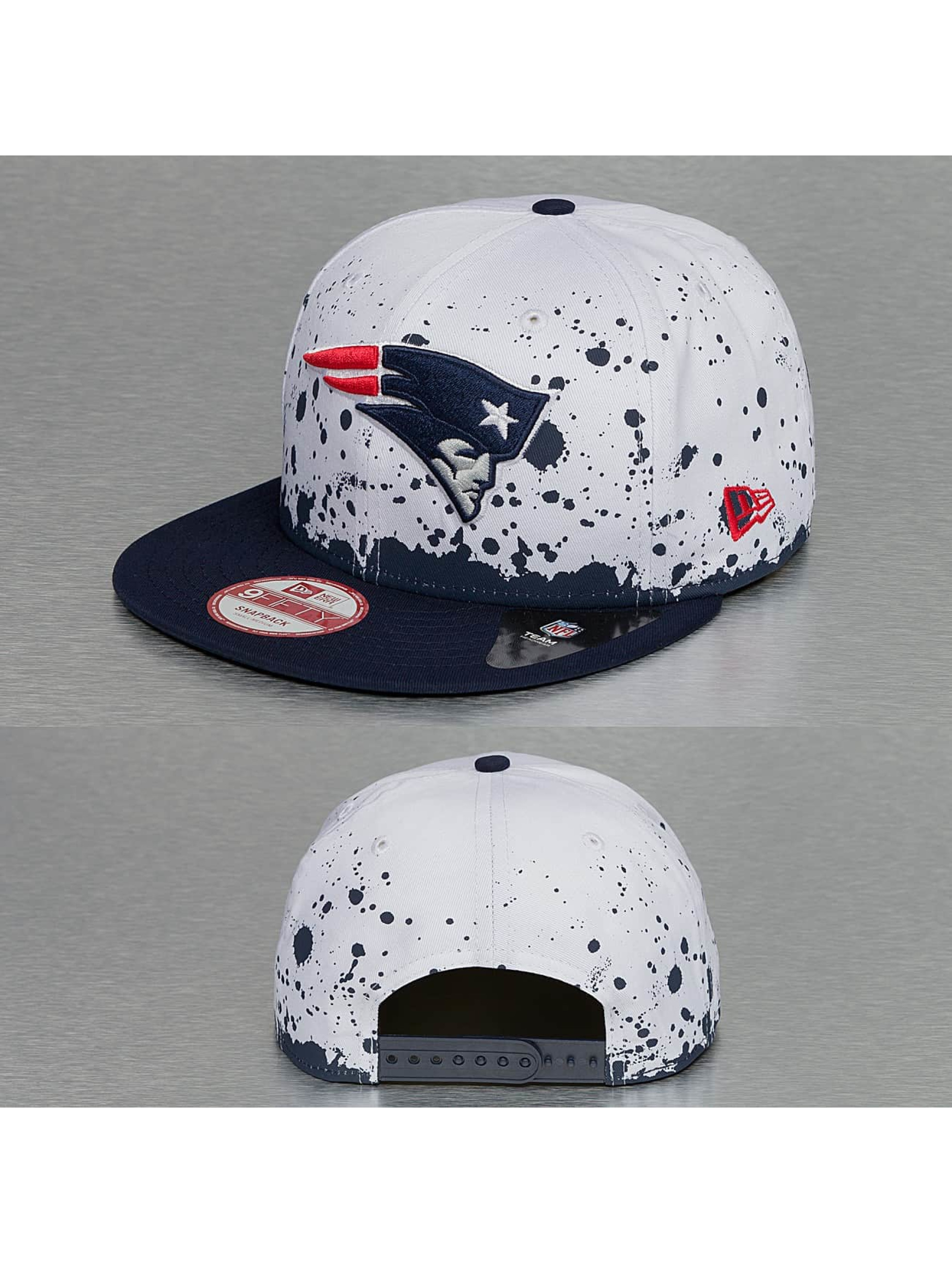 New Era Snapback Caps Splatter New England Patriots 9Fifty valkoinen