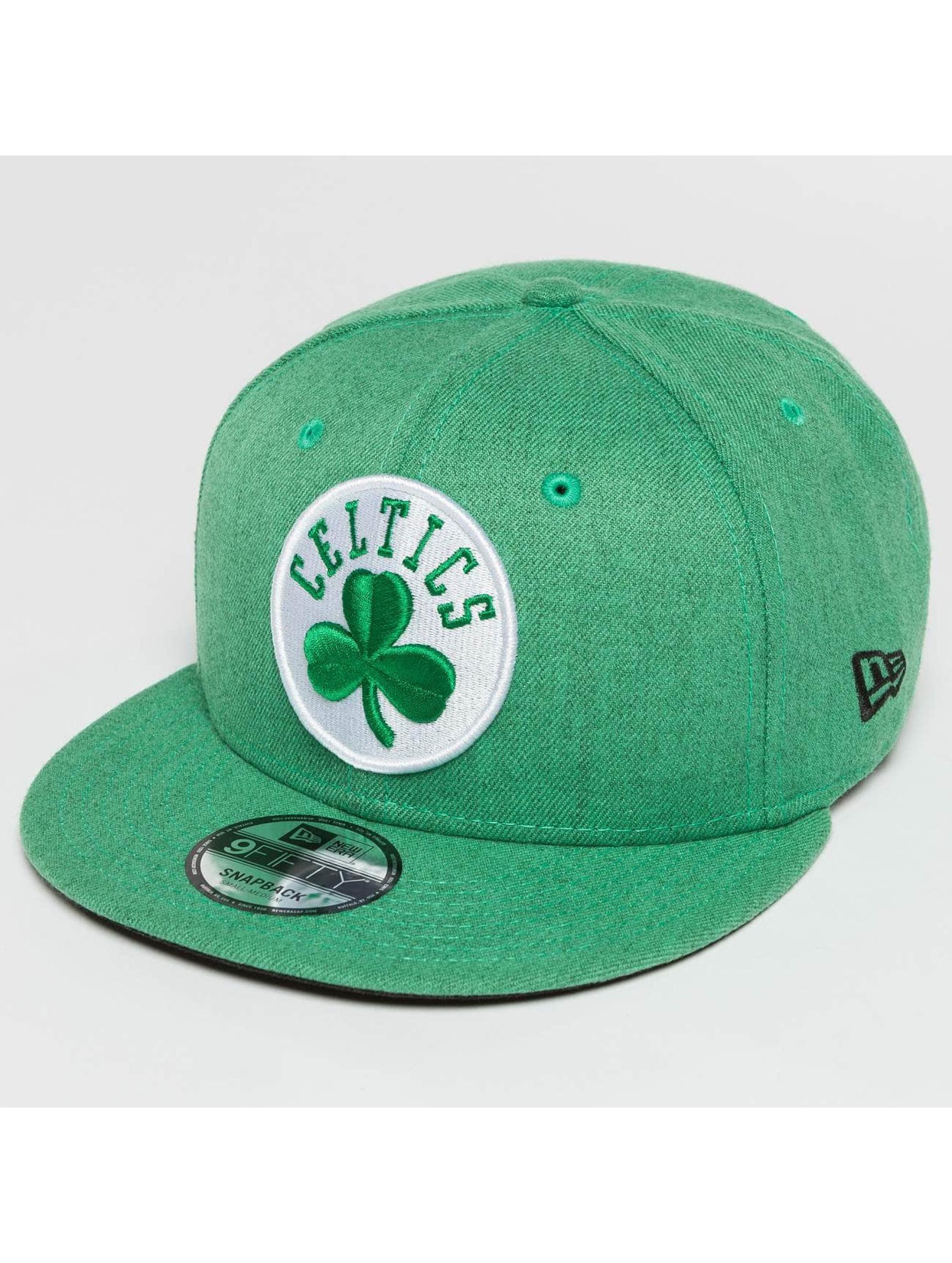 New Era Snapback Caps Team Heather Boston Celtics 9Fifty zielony