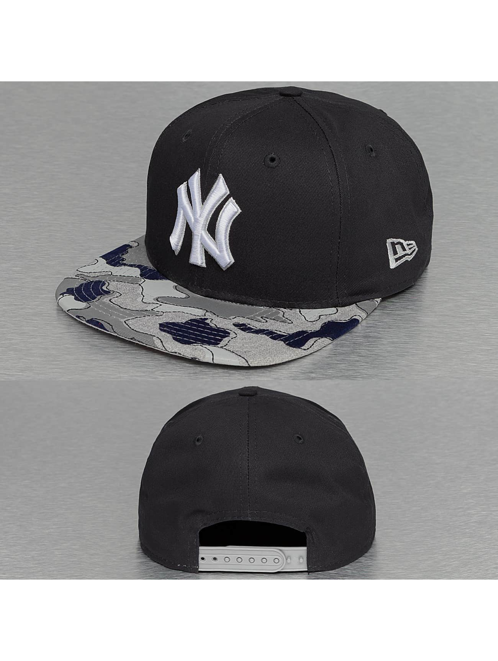 New Era Snapback Camo Flock New York Yankees 59Fifty modrá