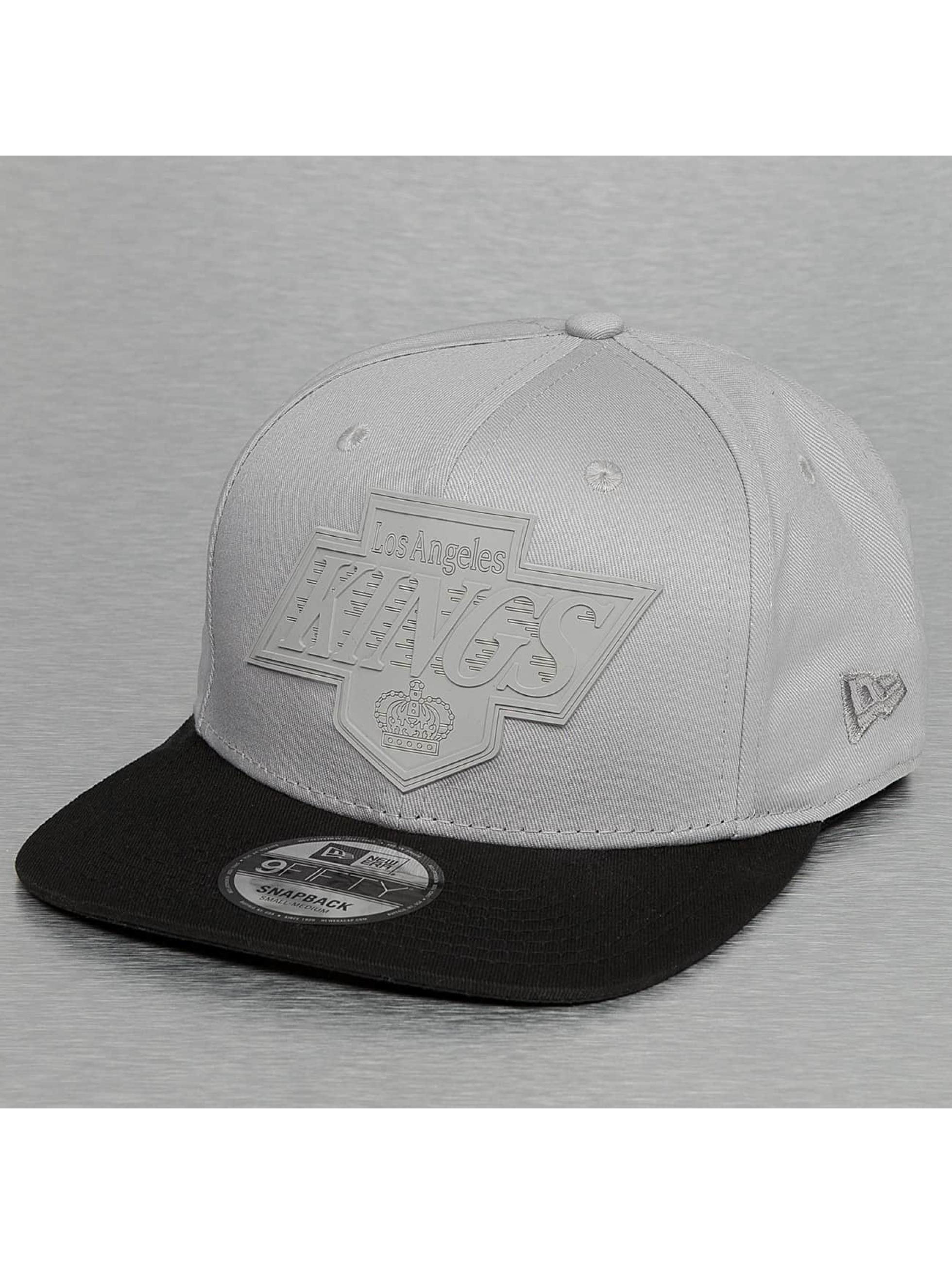 New Era Snapbackkeps Rubber Logo LA Kings 9Fifty grå