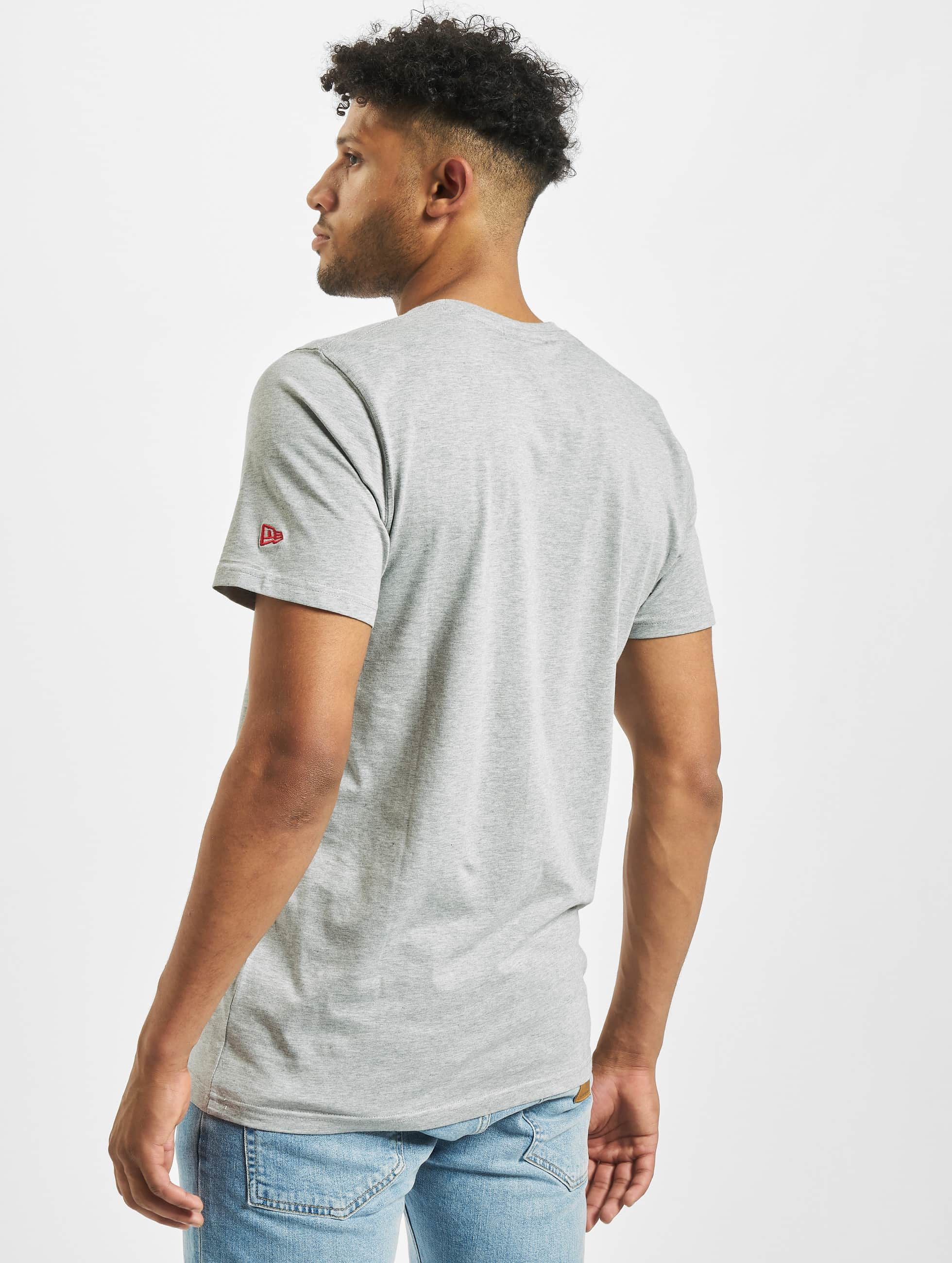 New Era t-shirt Team Logo grijs