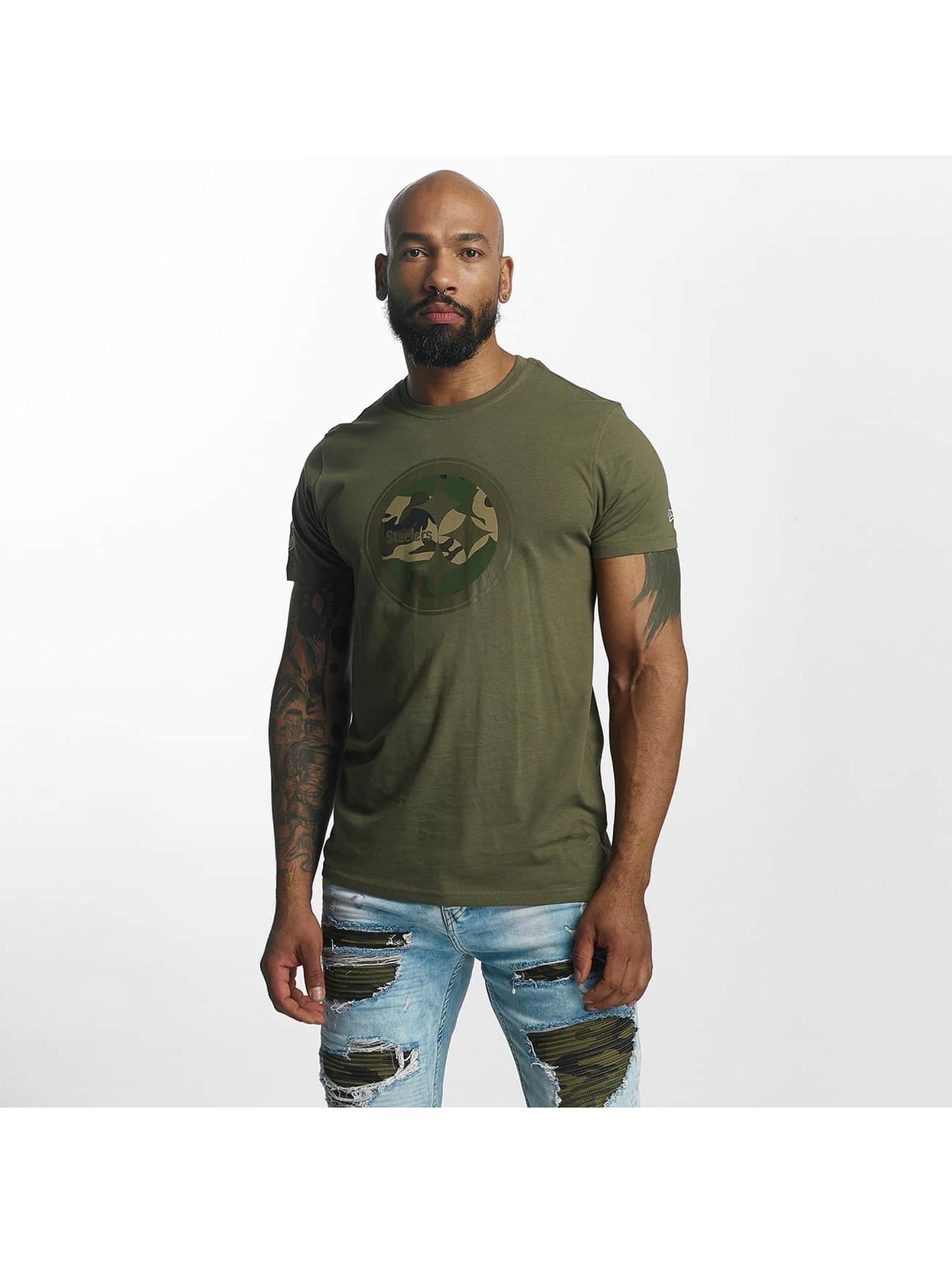 New Era T-Shirt Pittsburgh Steelers olive