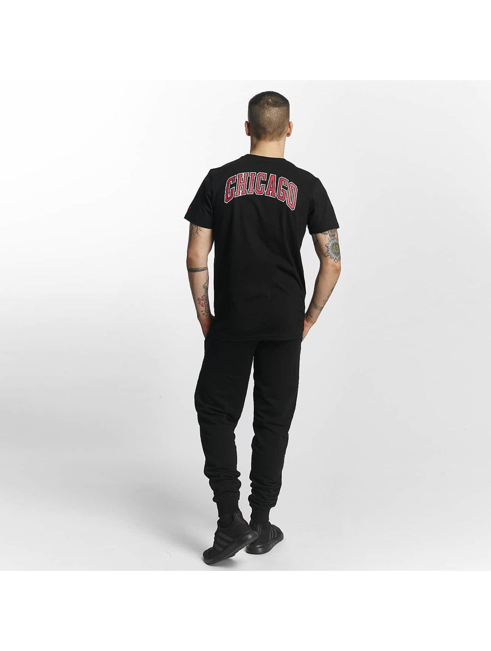 New Era T-Shirt Chicago Bulls schwarz