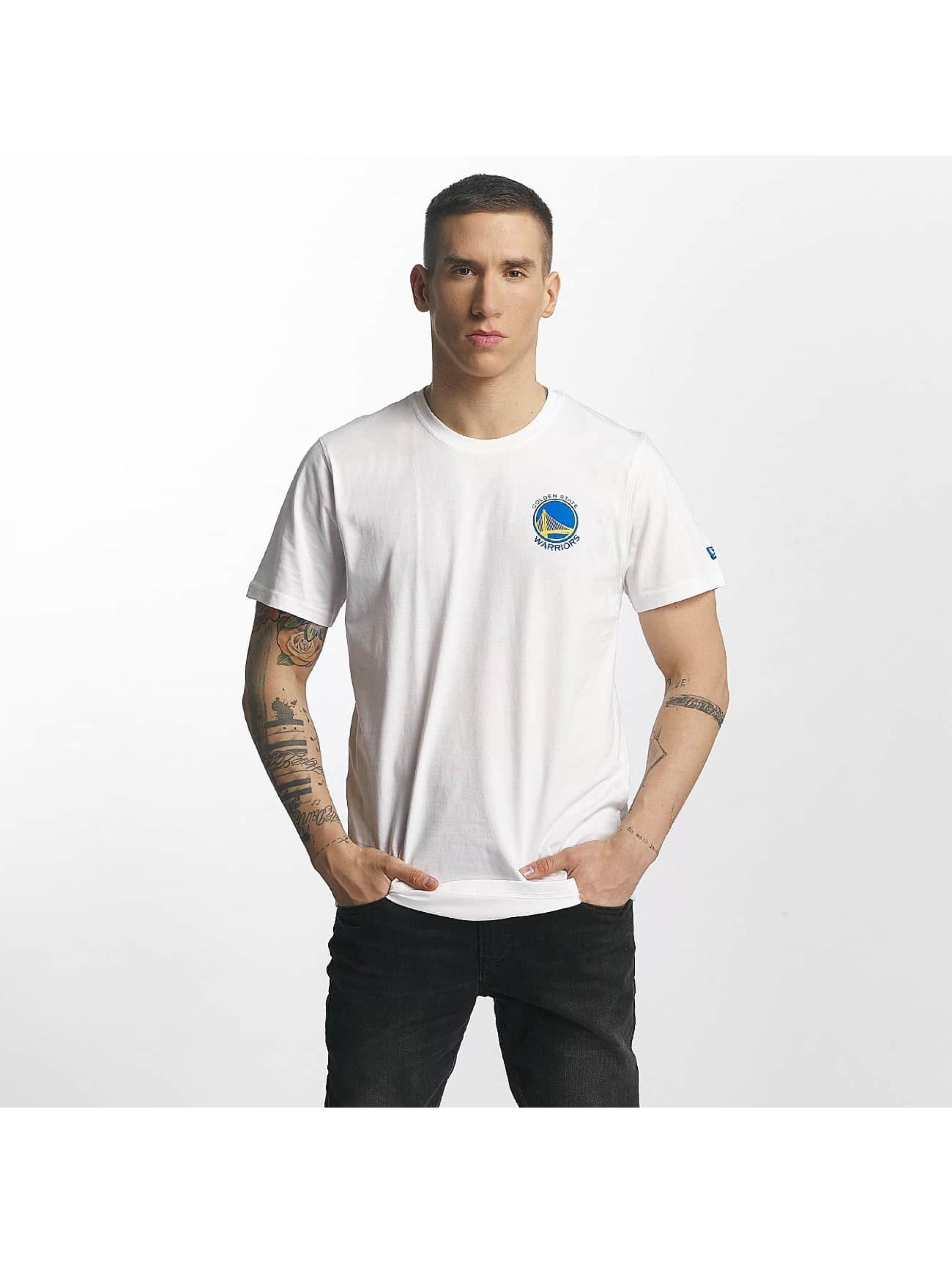 New Era T-Shirt Tip Off Golden State Warriors Chest weiß