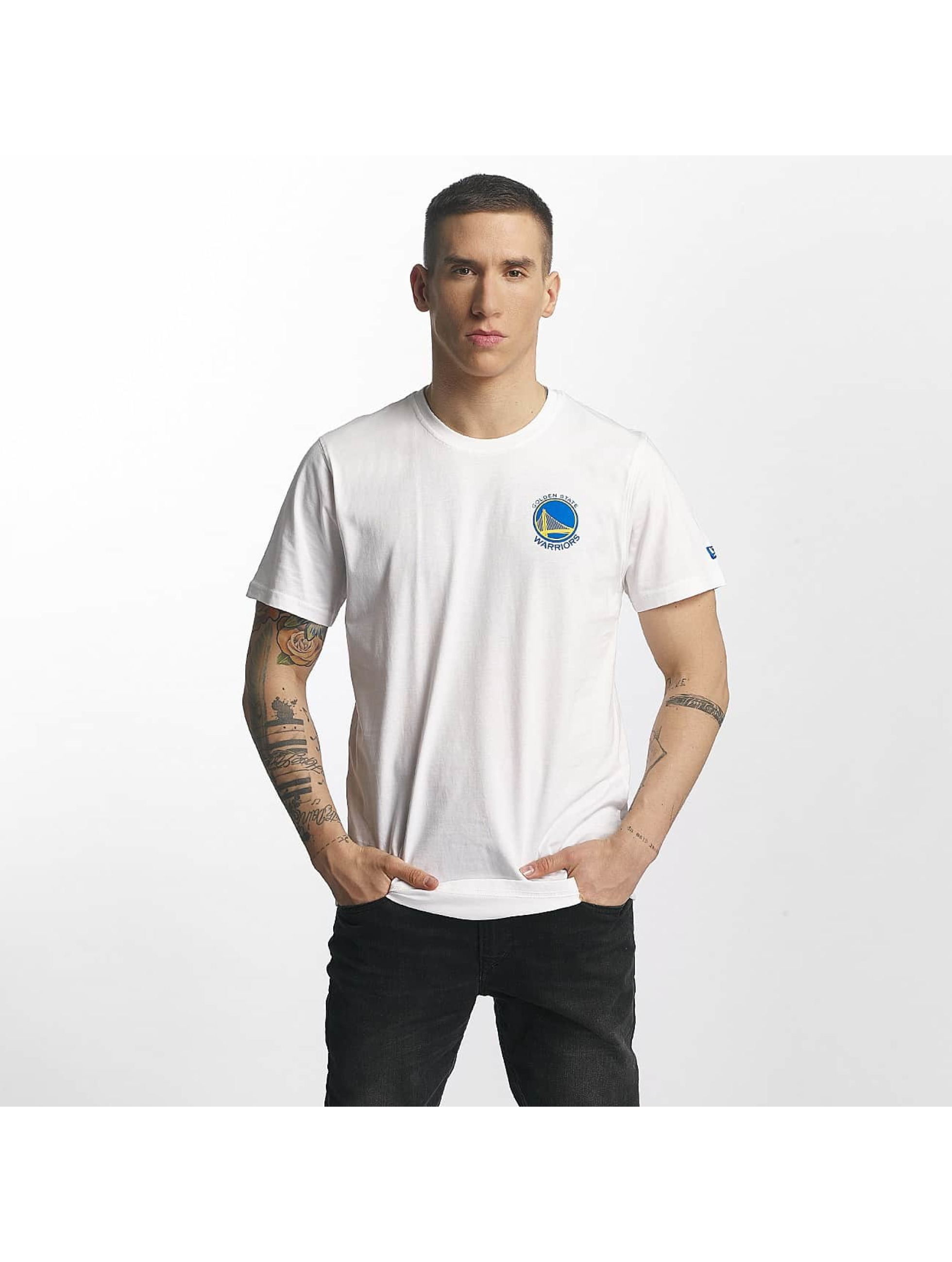 New Era T-Shirty Tip Off Golden State Warriors Chest bialy