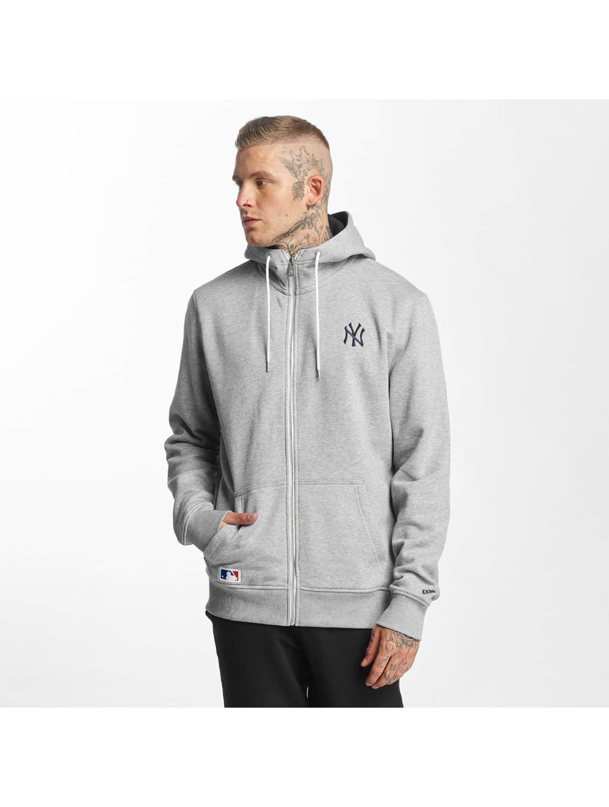 New Era Zip Hoodie NY Yankees grey