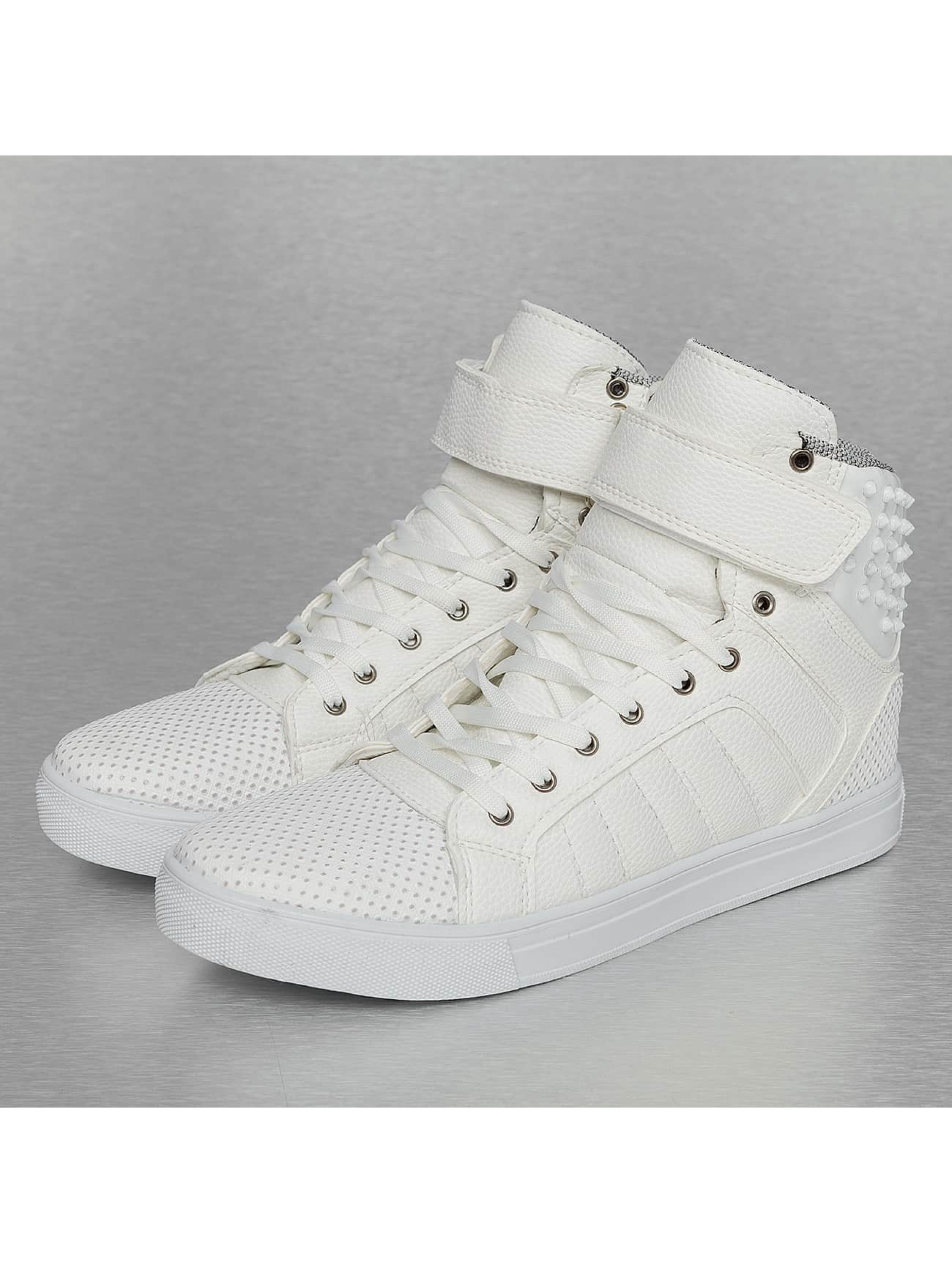New York Style Rivet blanc Baskets homme