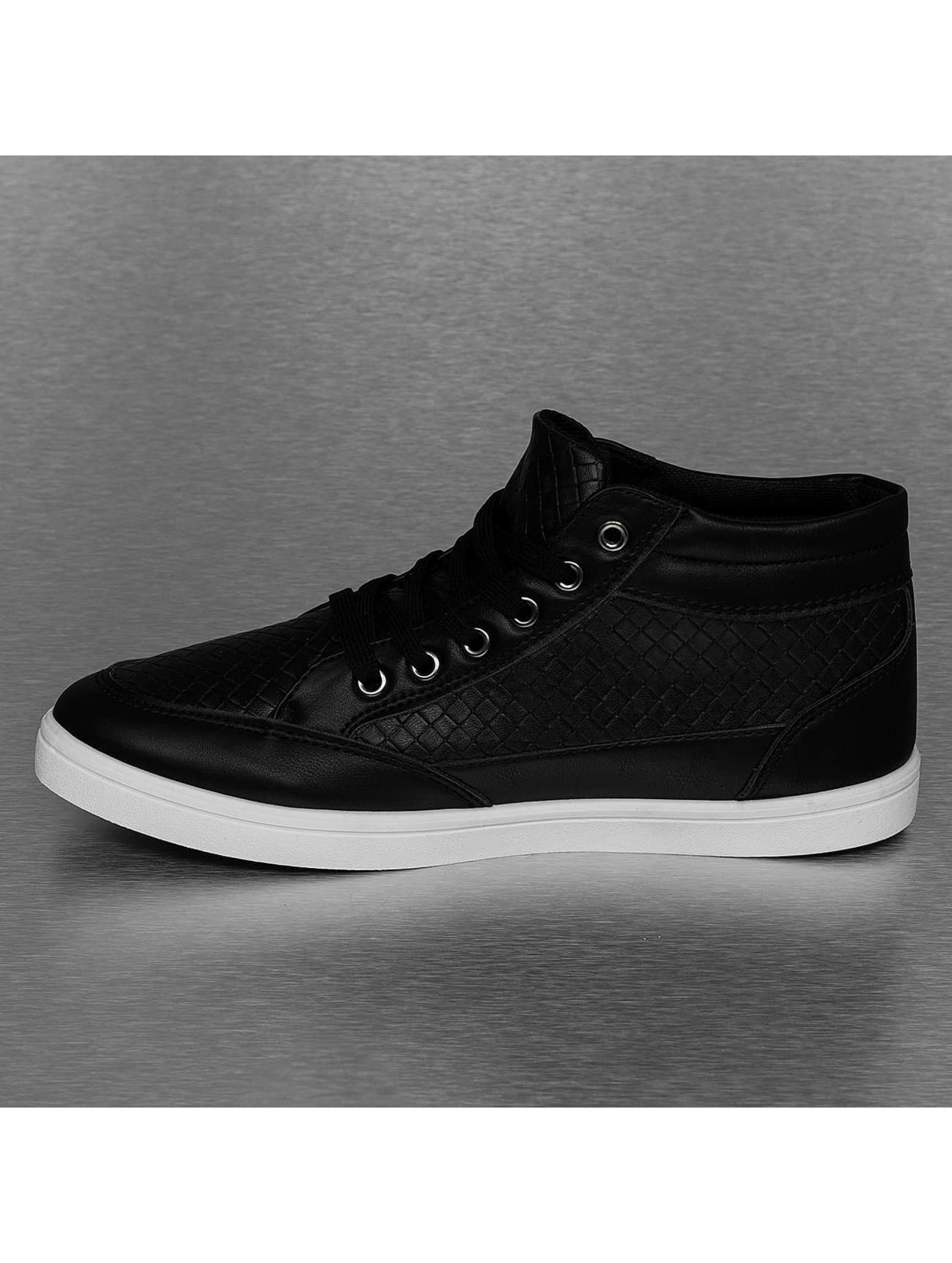 New York Style Sneakers PU Braided czarny