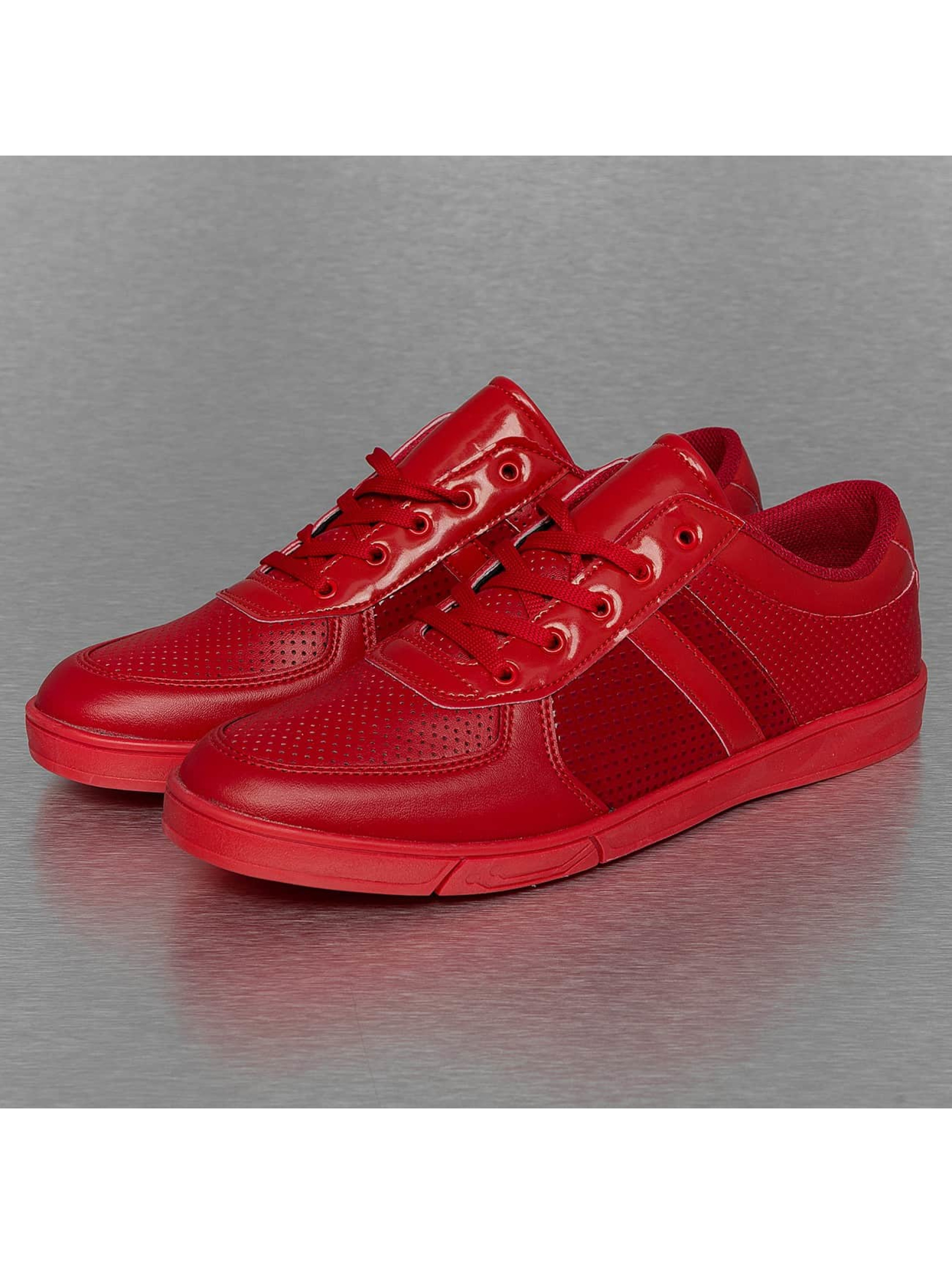 New York Style Sneakers Perforated Pattern red