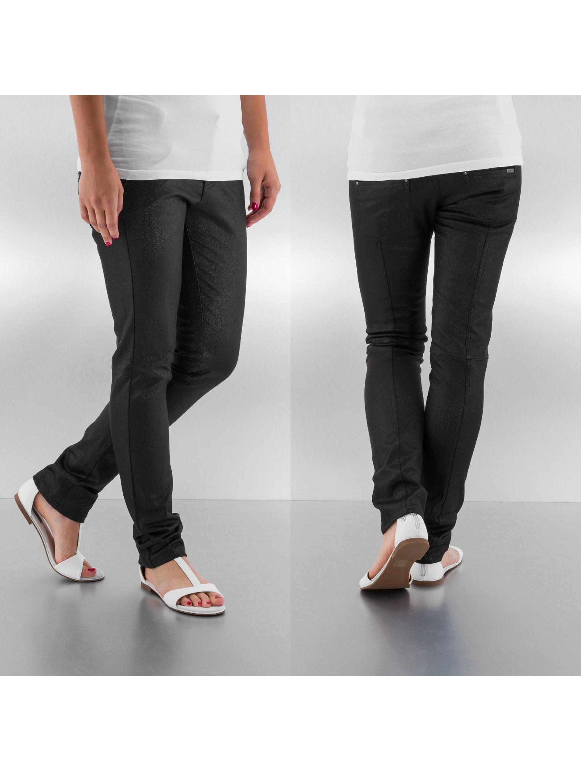 Straight Fit Jeans Lantin Glamour in schwarz