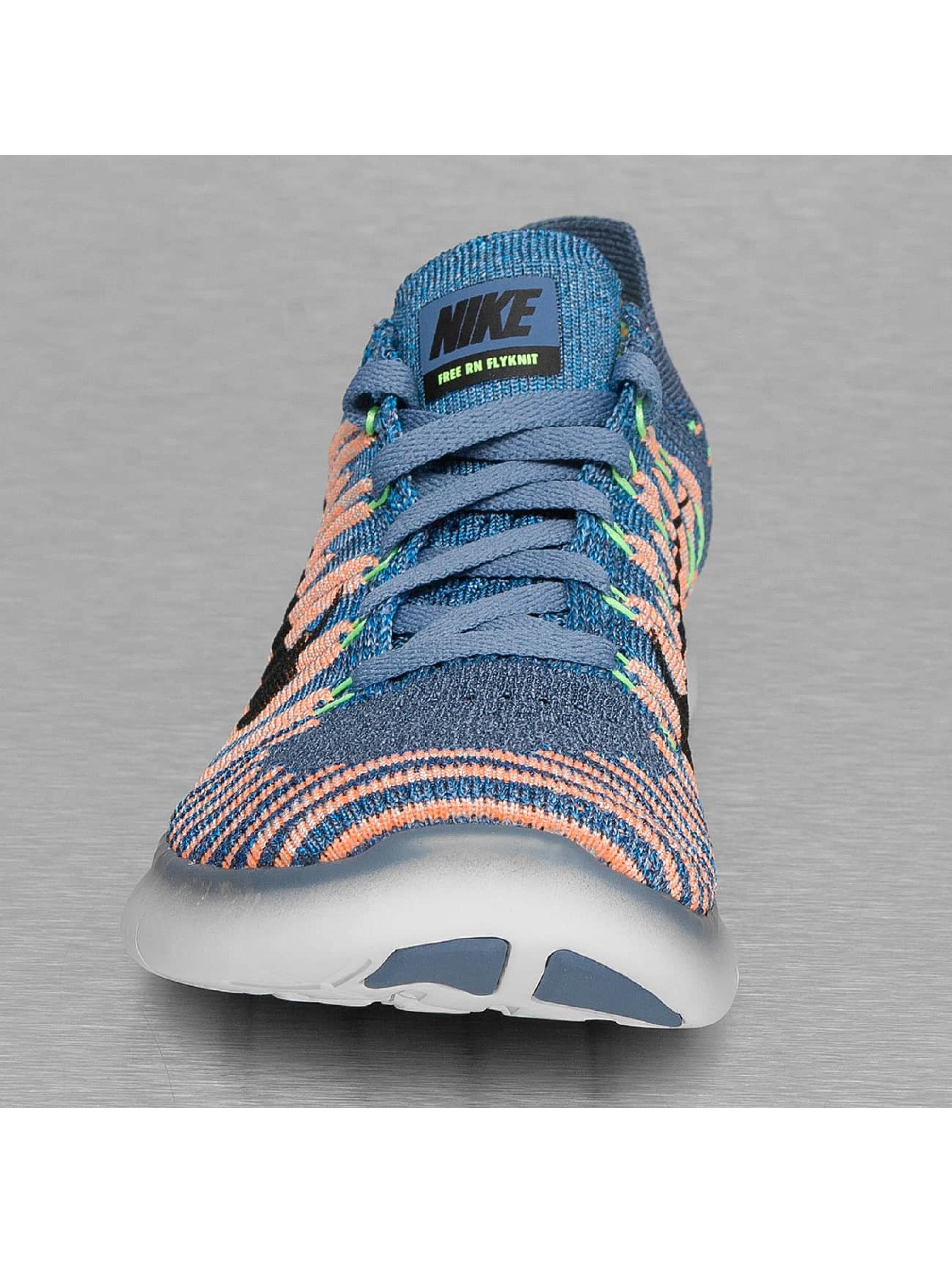 Nike Сникеры Free RN Flyknit (GS) синий